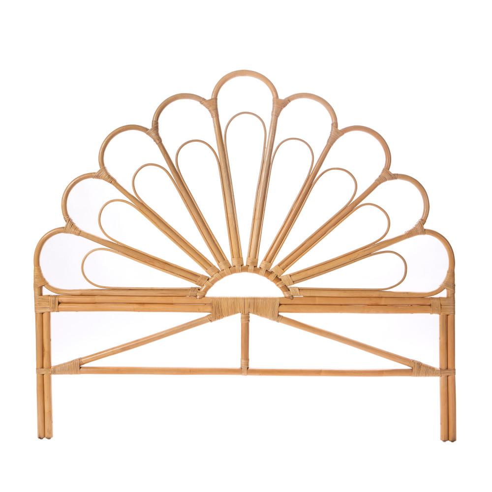 Tête de lit design en rotin 160cm