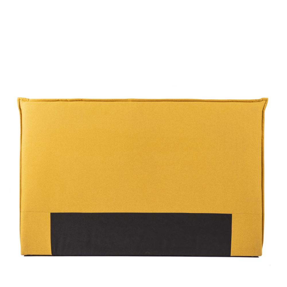 Tête de lit en tissu 170 cm jaune moutarde