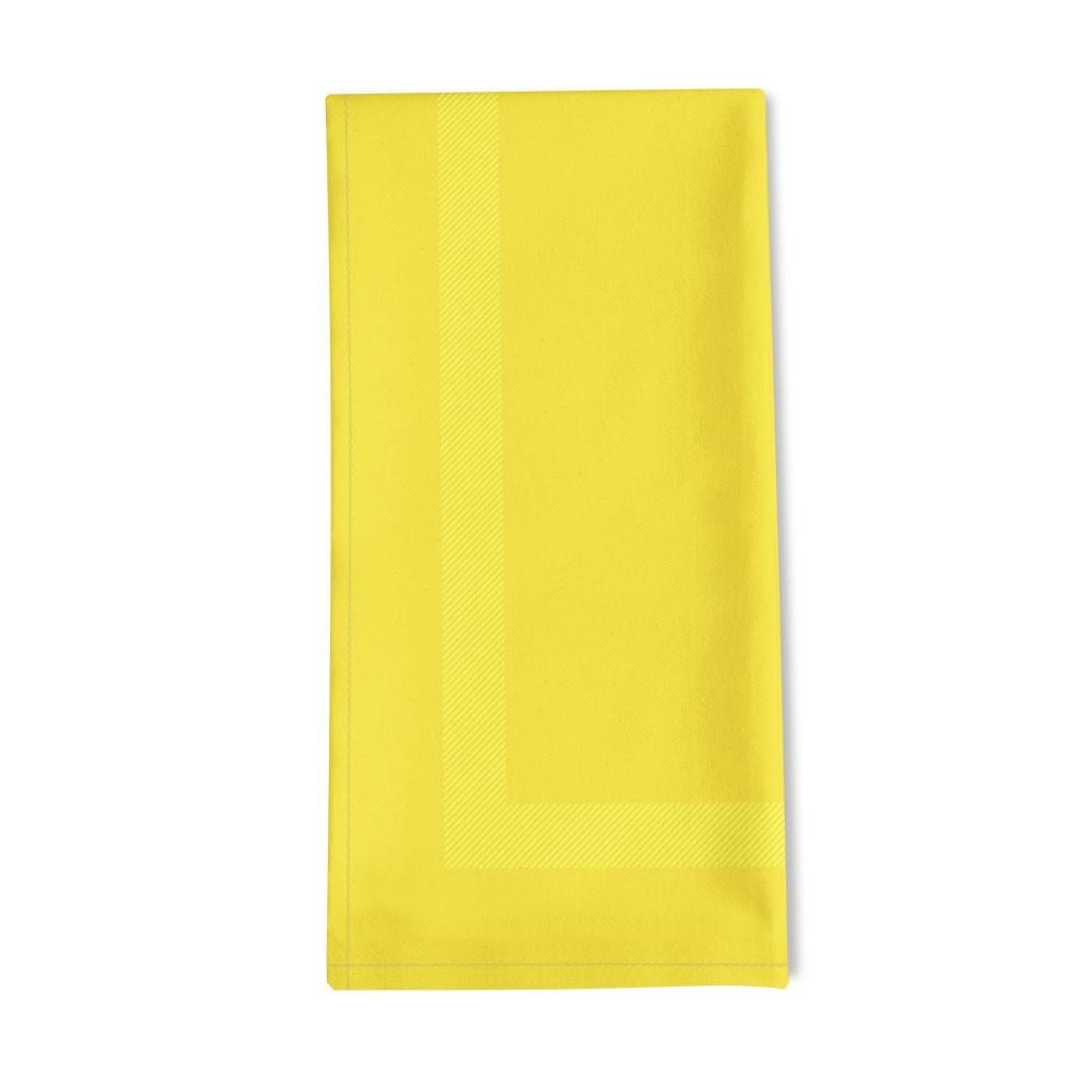Serviette de table jaune 50x55