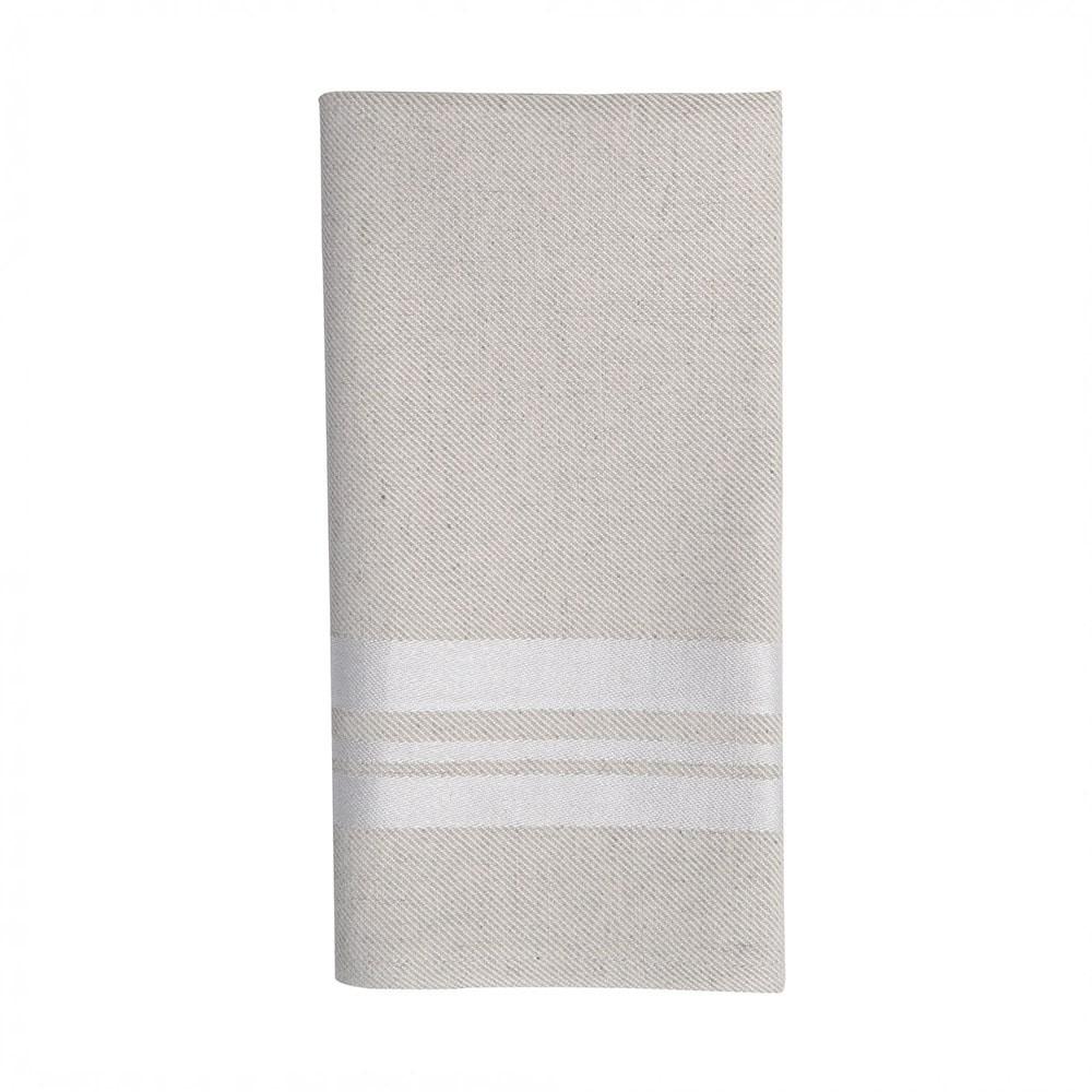 Serviette de table blanc 50x50