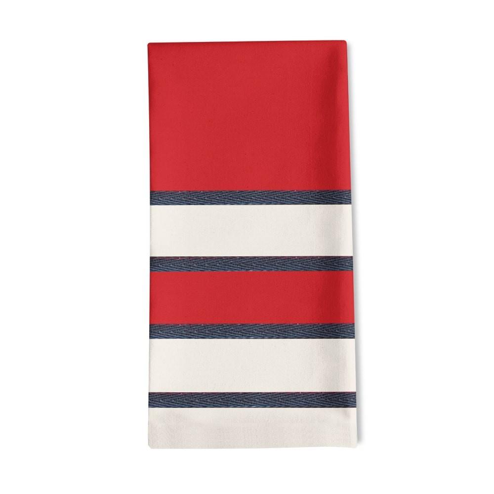 Serviette de table rouge 50x50