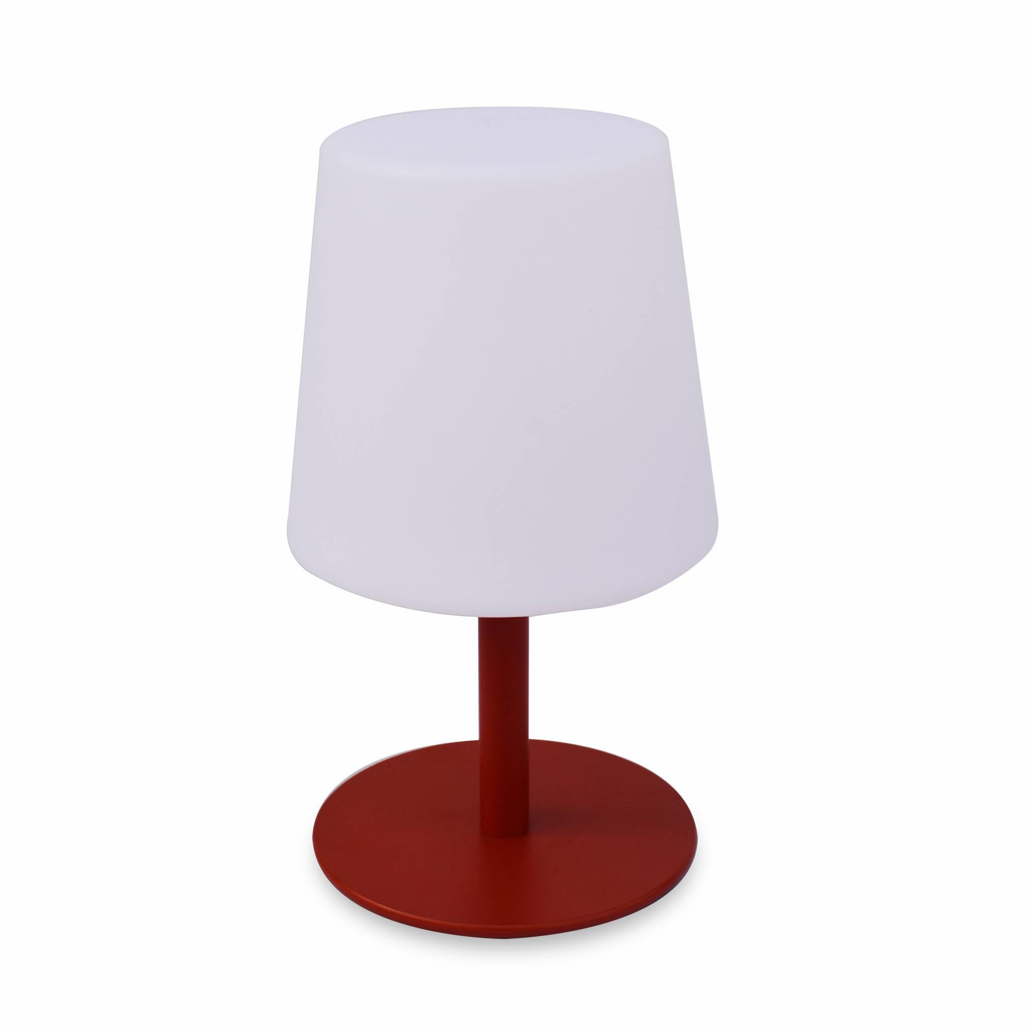 Lampe de table LED rouge 28cm