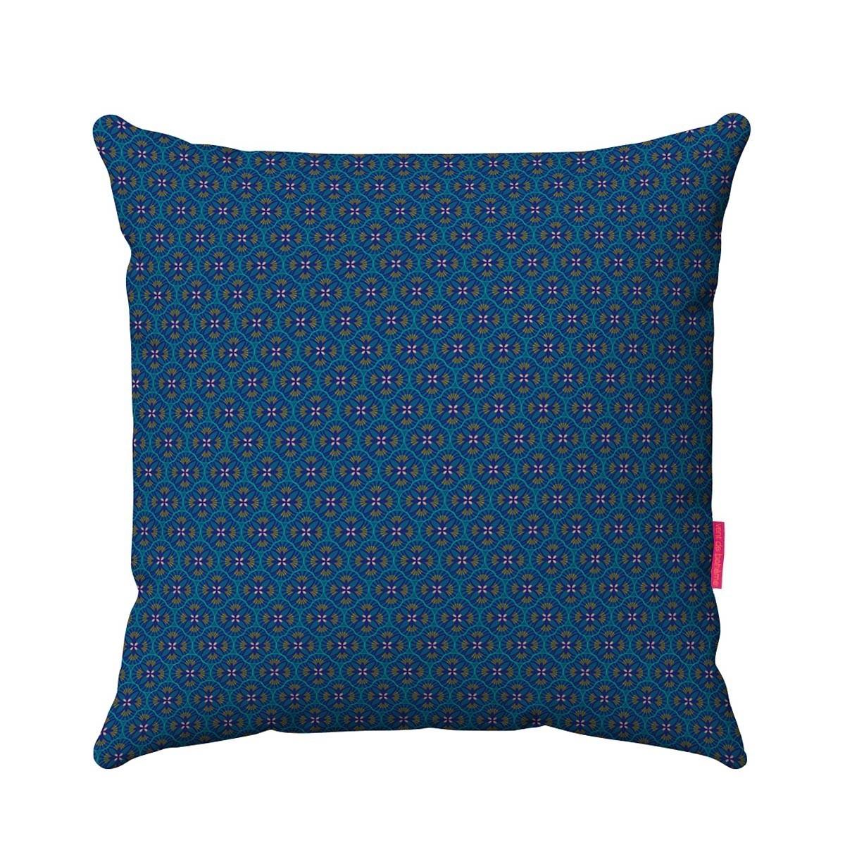 Housse de coussin outdoor bleu 45x45 cm