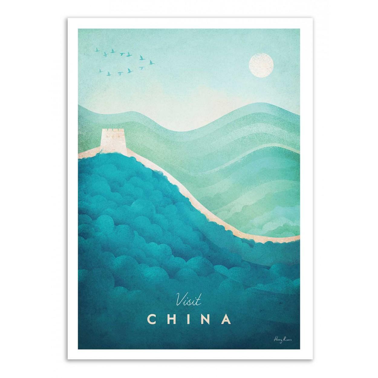 VISIT CHINA -  Affiche d'art 50 x 70 cm