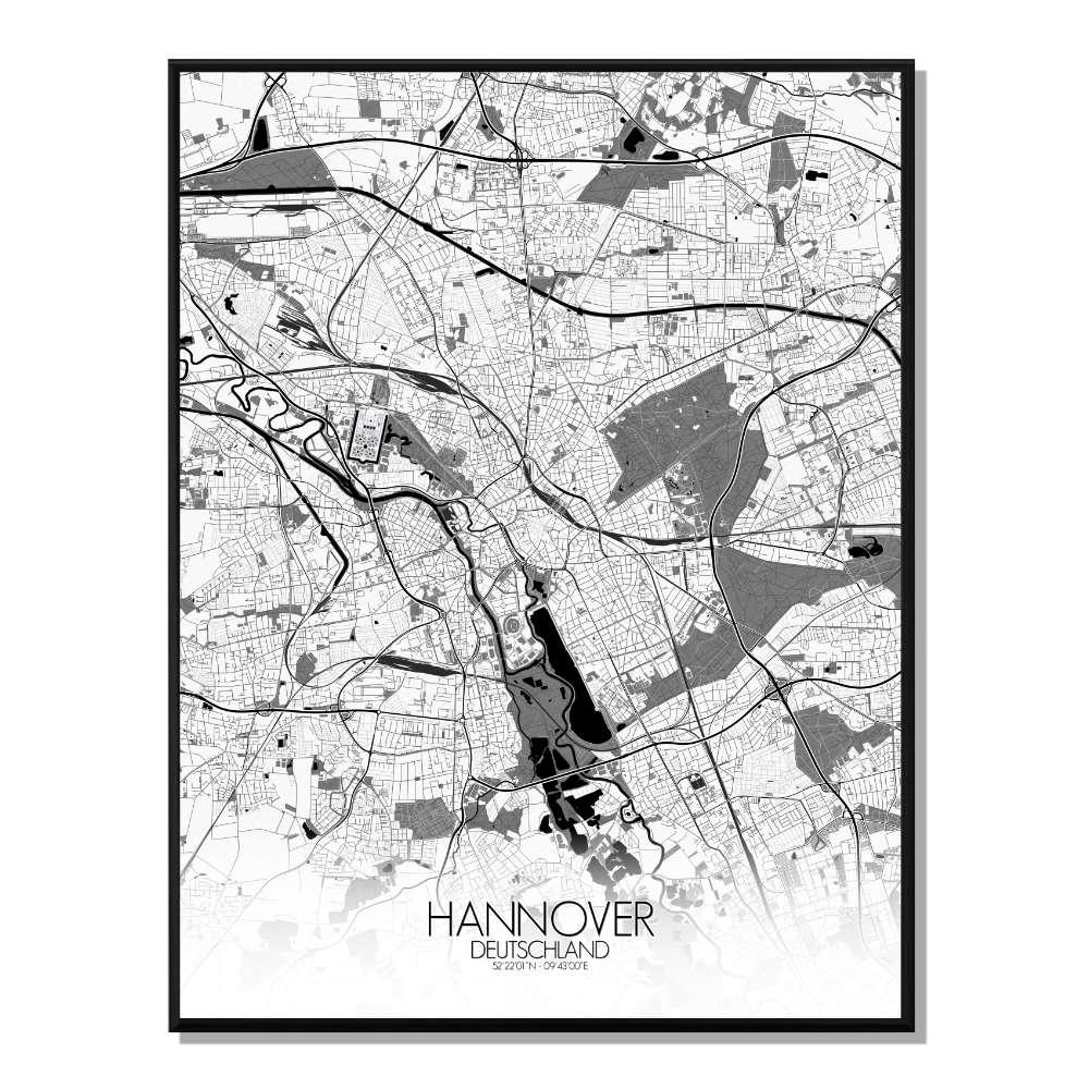 ROME - Carte City Map Rond 40x50cm