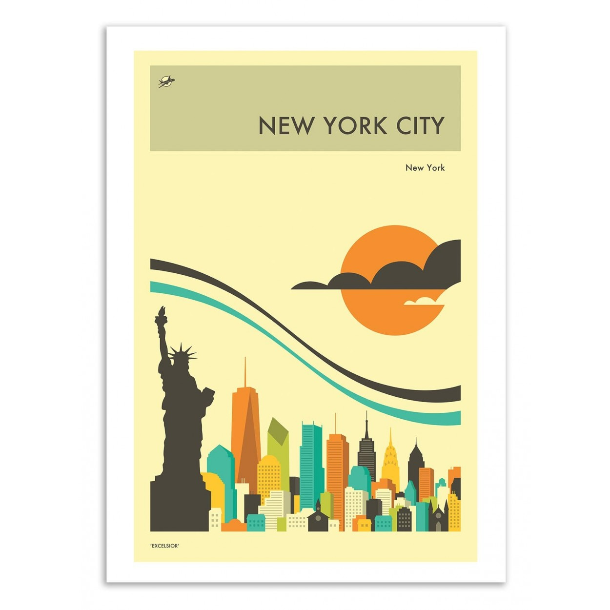 NEW-YORK TRAVEL POSTER -  Affiche d'art 50 x 70 cm