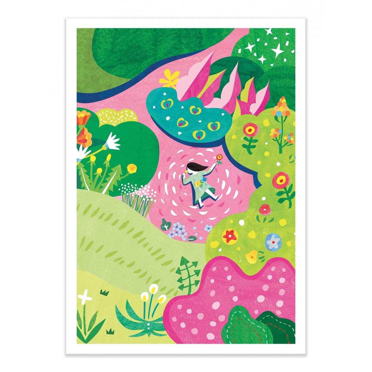 SECRET GARDEN - Affiche d'art 50 x 70 cm