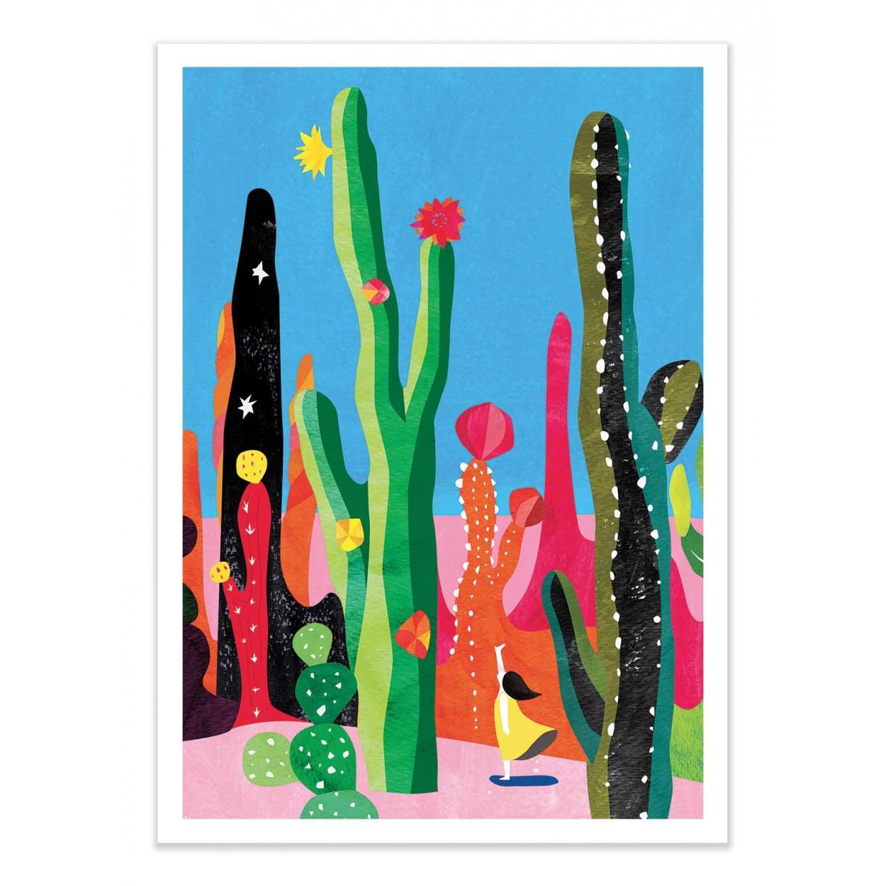 CACTUS -  Affiche d'art 50 x 70 cm