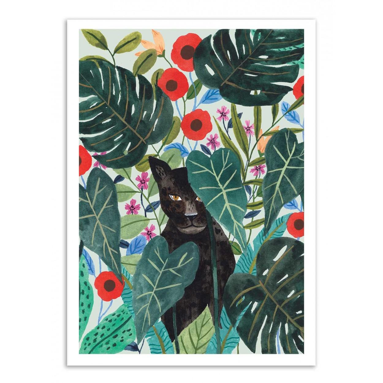 BLACK JAGUAR -  Affiche d'art 50 x 70 cm