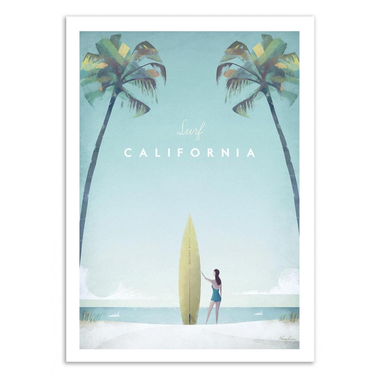 VISIT CALIFORNIA -  Affiche d'art 50 x 70 cm