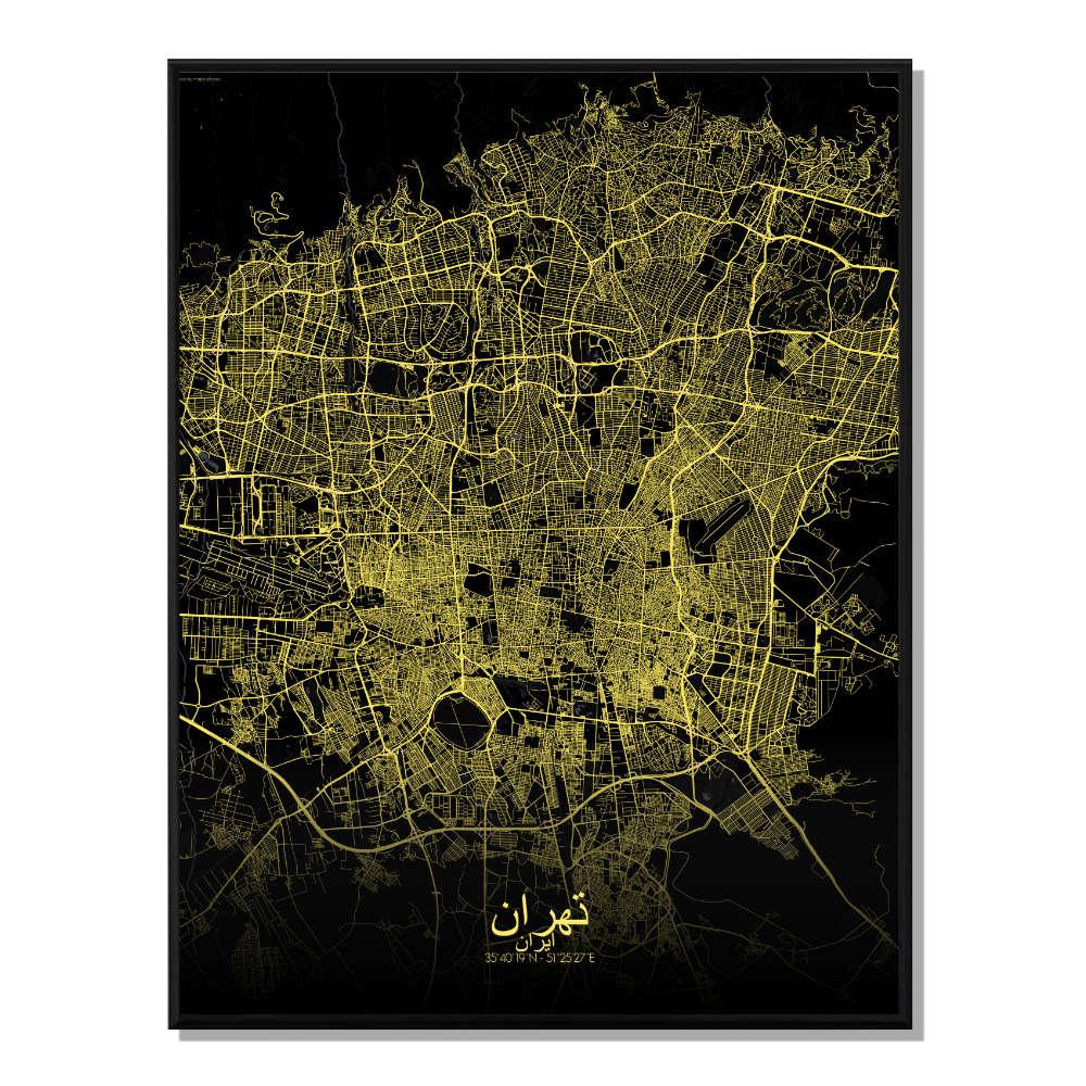 SOFIA - Carte City Map Rond 40x50cm