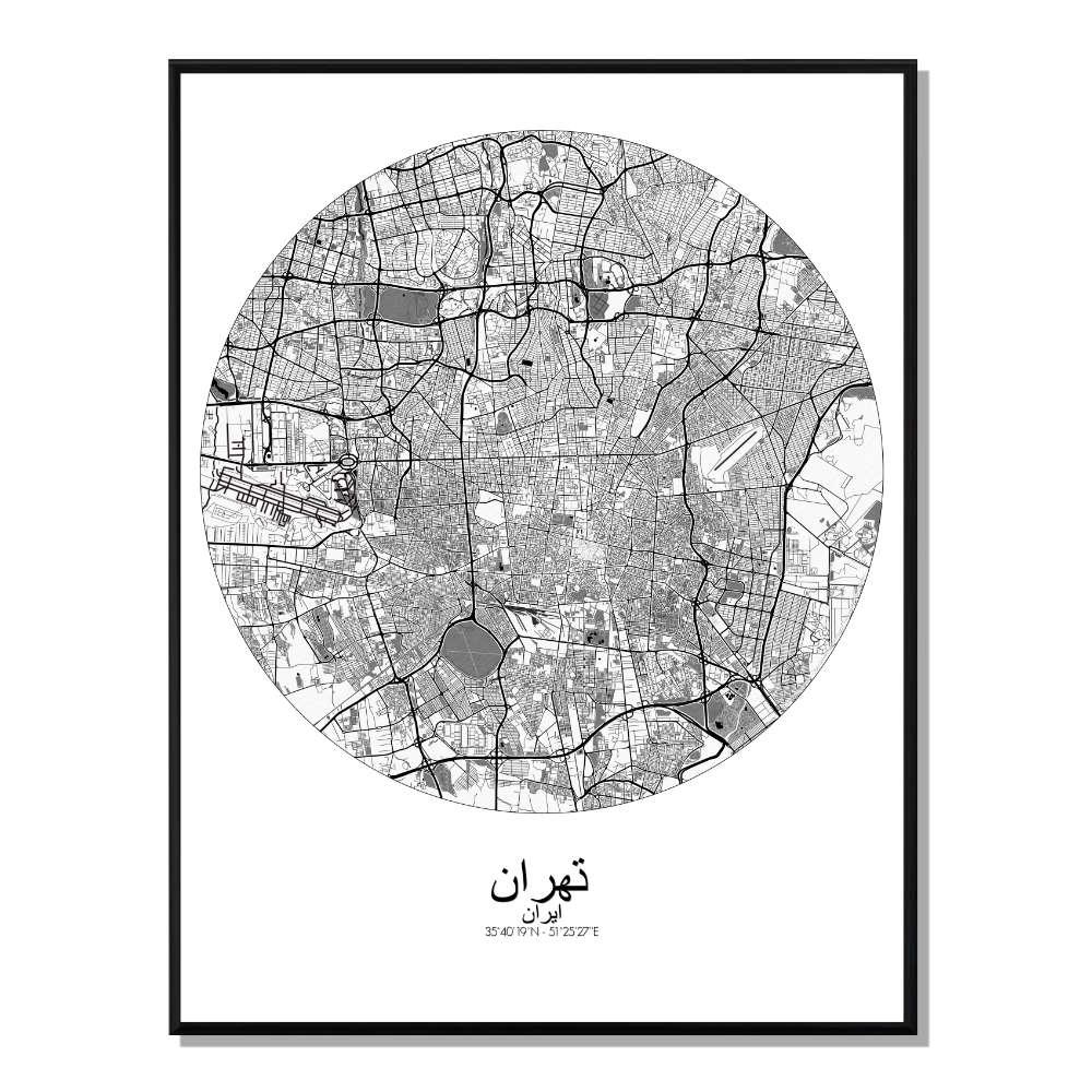 SOFIA - Carte City Map N&B 40x50cm