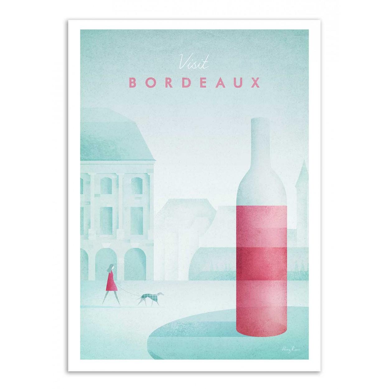 VISIT BORDEAUX -  Affiche d'art 50 x 70 cm