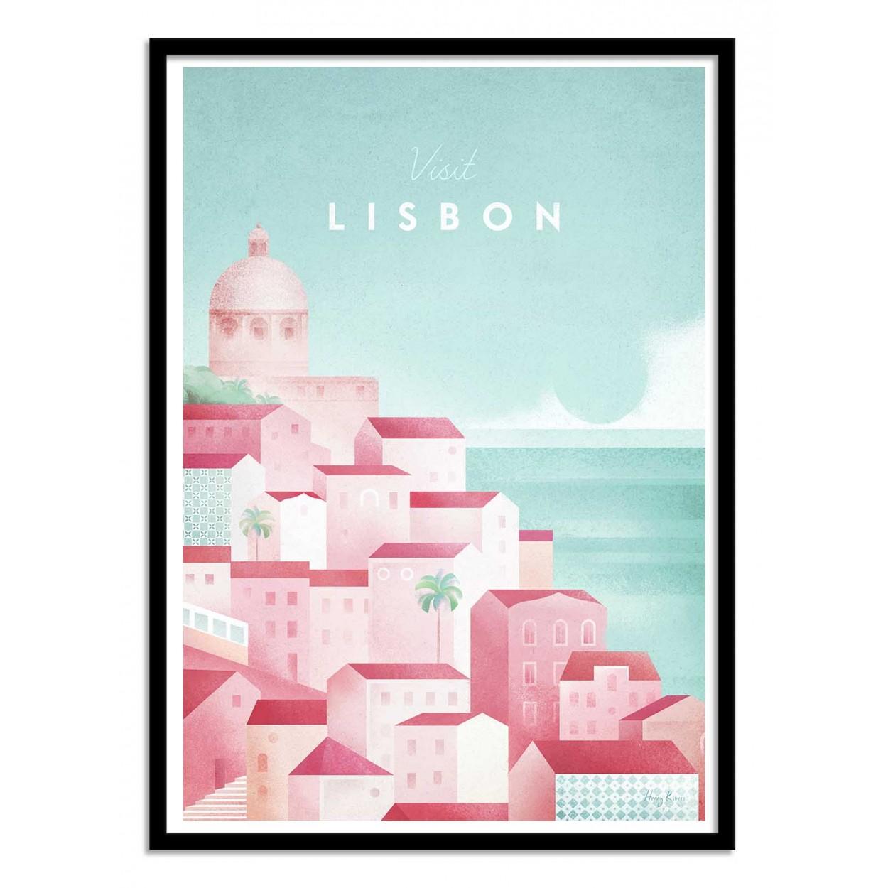 VISIT LISBON -  Affiche d'art 50 x 70 cm