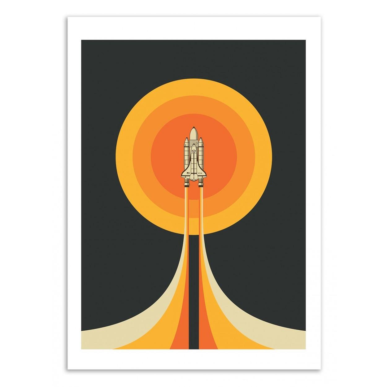 UPWARD - Affiche d'art 50 x 70 cm