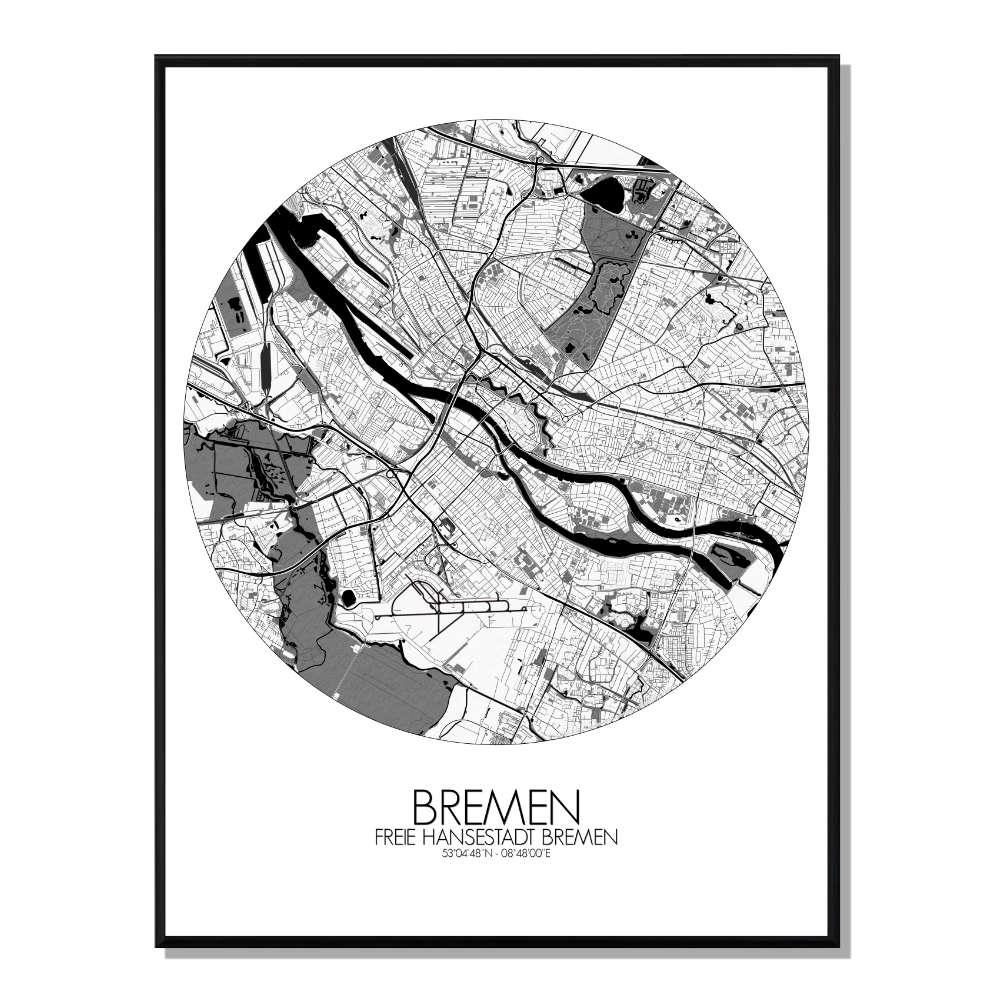 ROME - Carte City Map Nuit 40x50cm