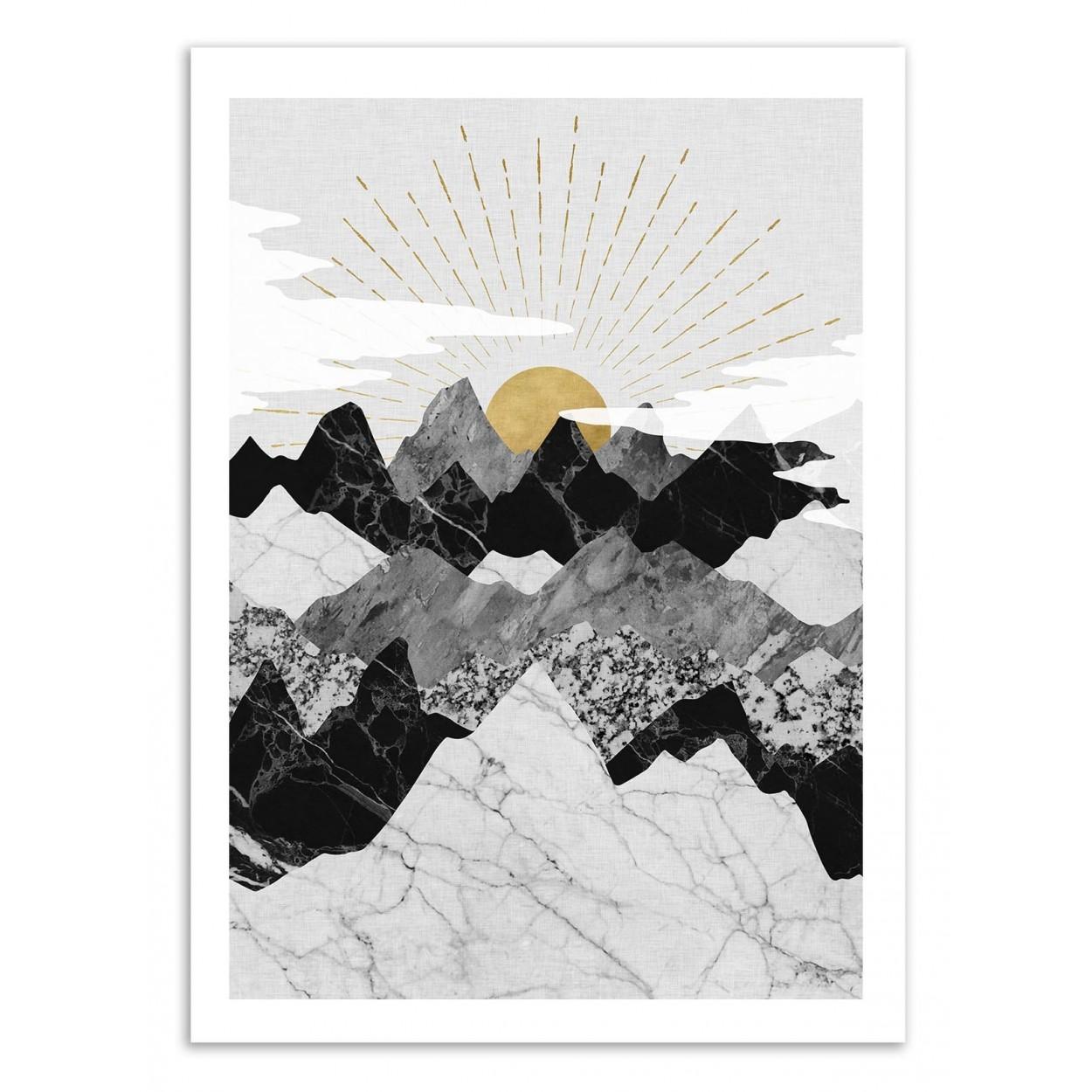 SUN RISE - Affiche d'art 50 x 70 cm