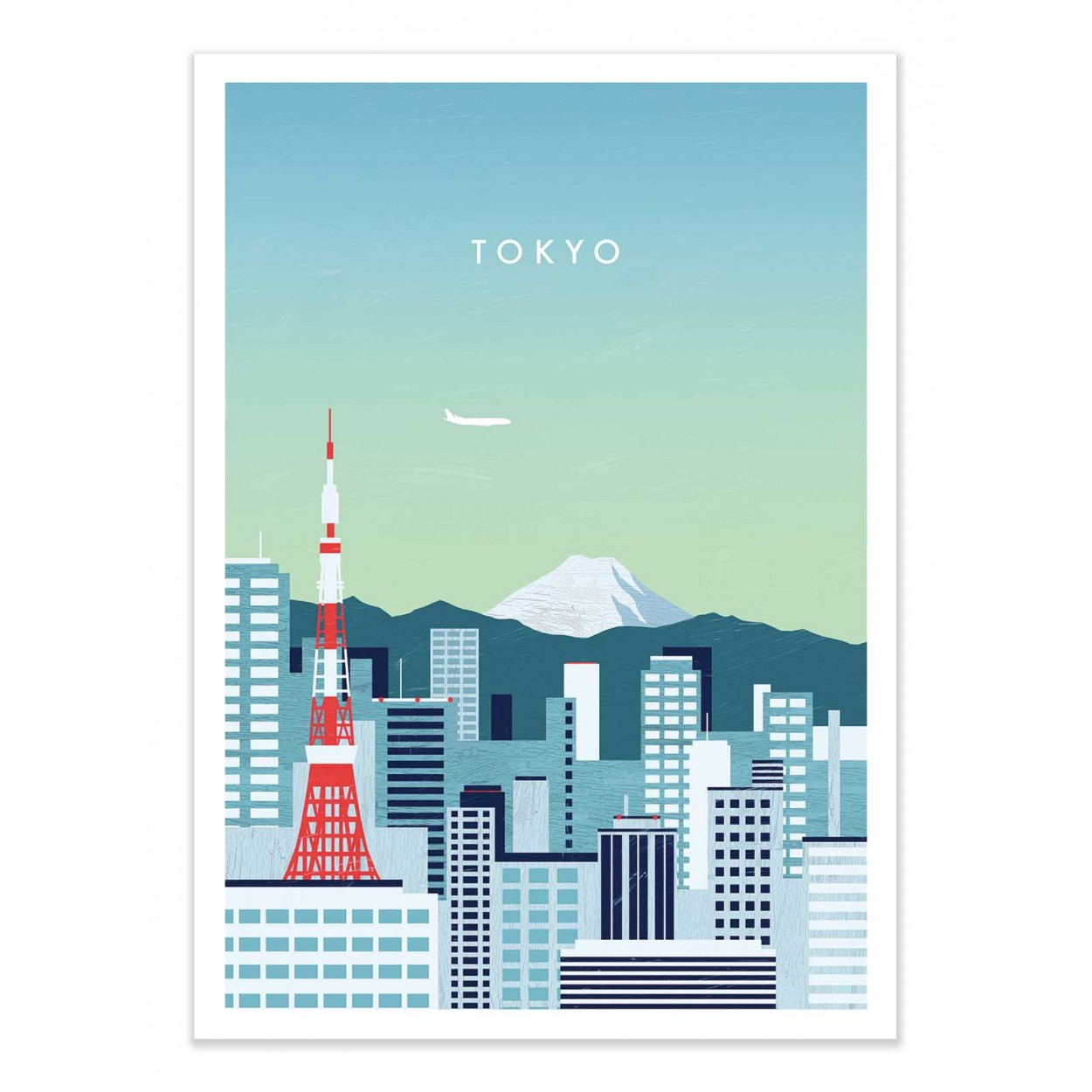 TOKYO -  Affiche d'art 50 x 70 cm
