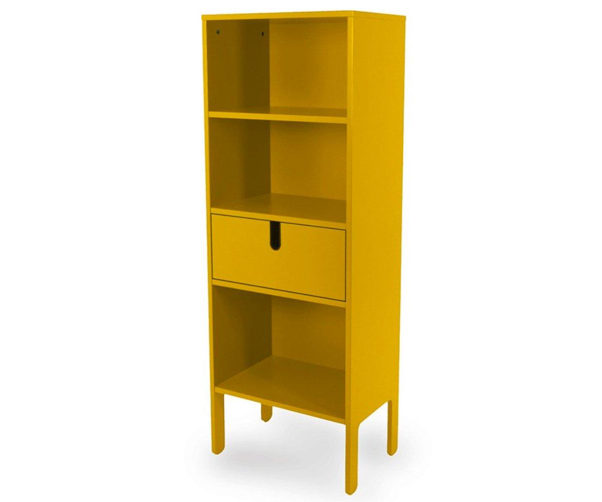 Grande étagère design tiroir et niches moutarde