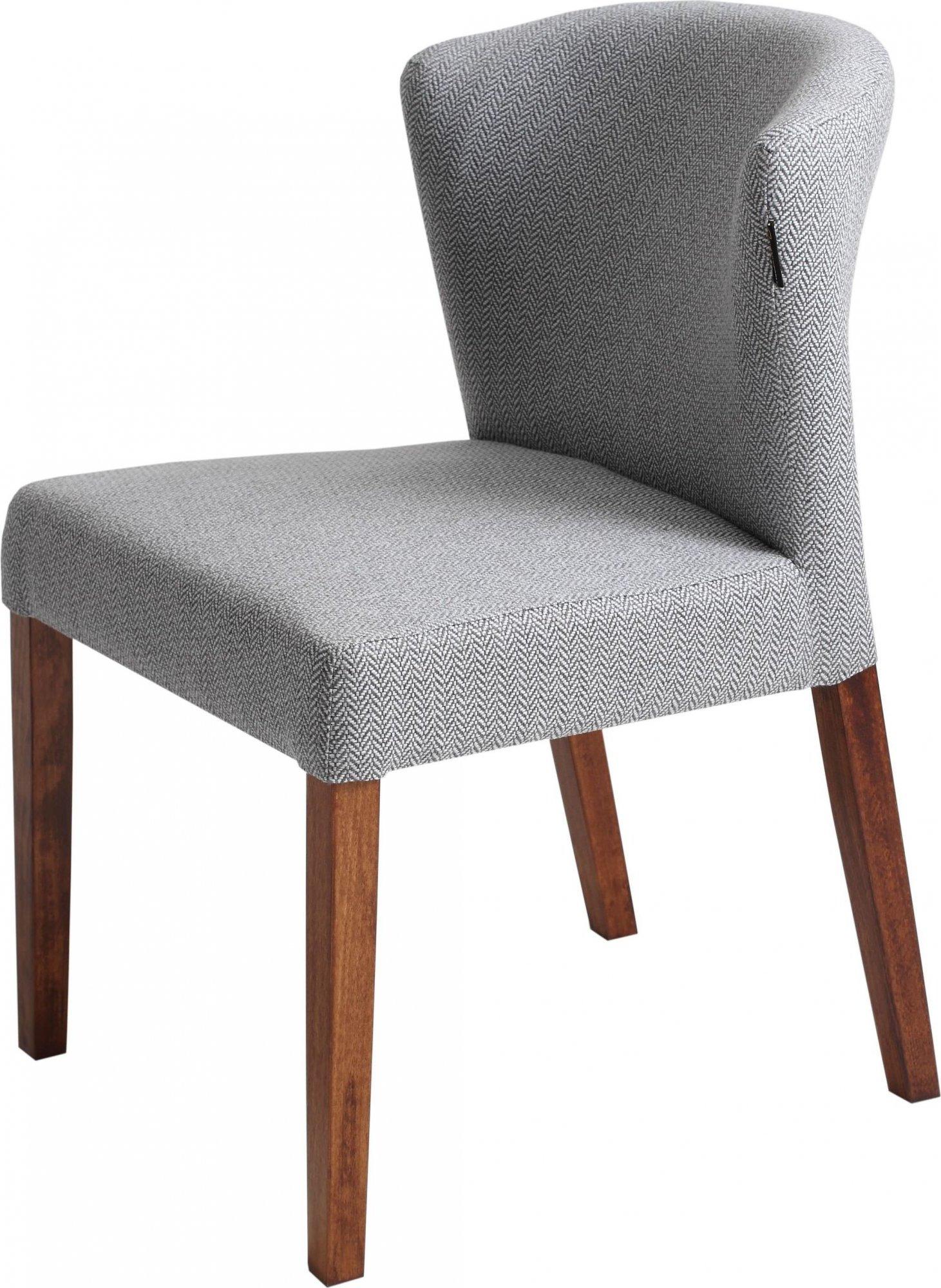 Chaise cosy rembourrée couleur gris pieds bois