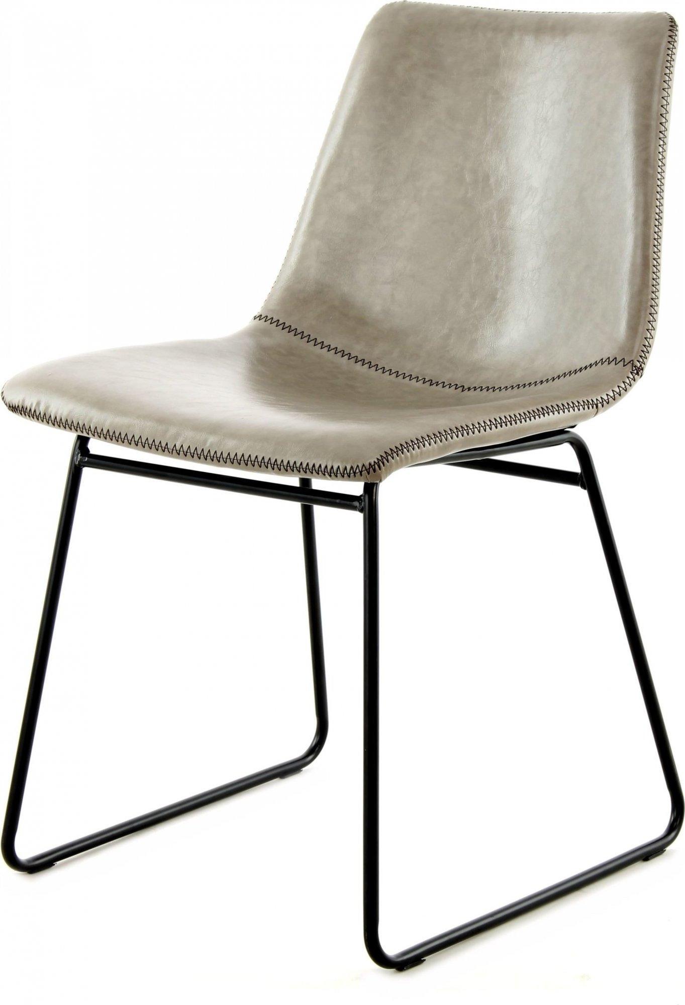 Chaise design imitation couleur gris (lot de 2)