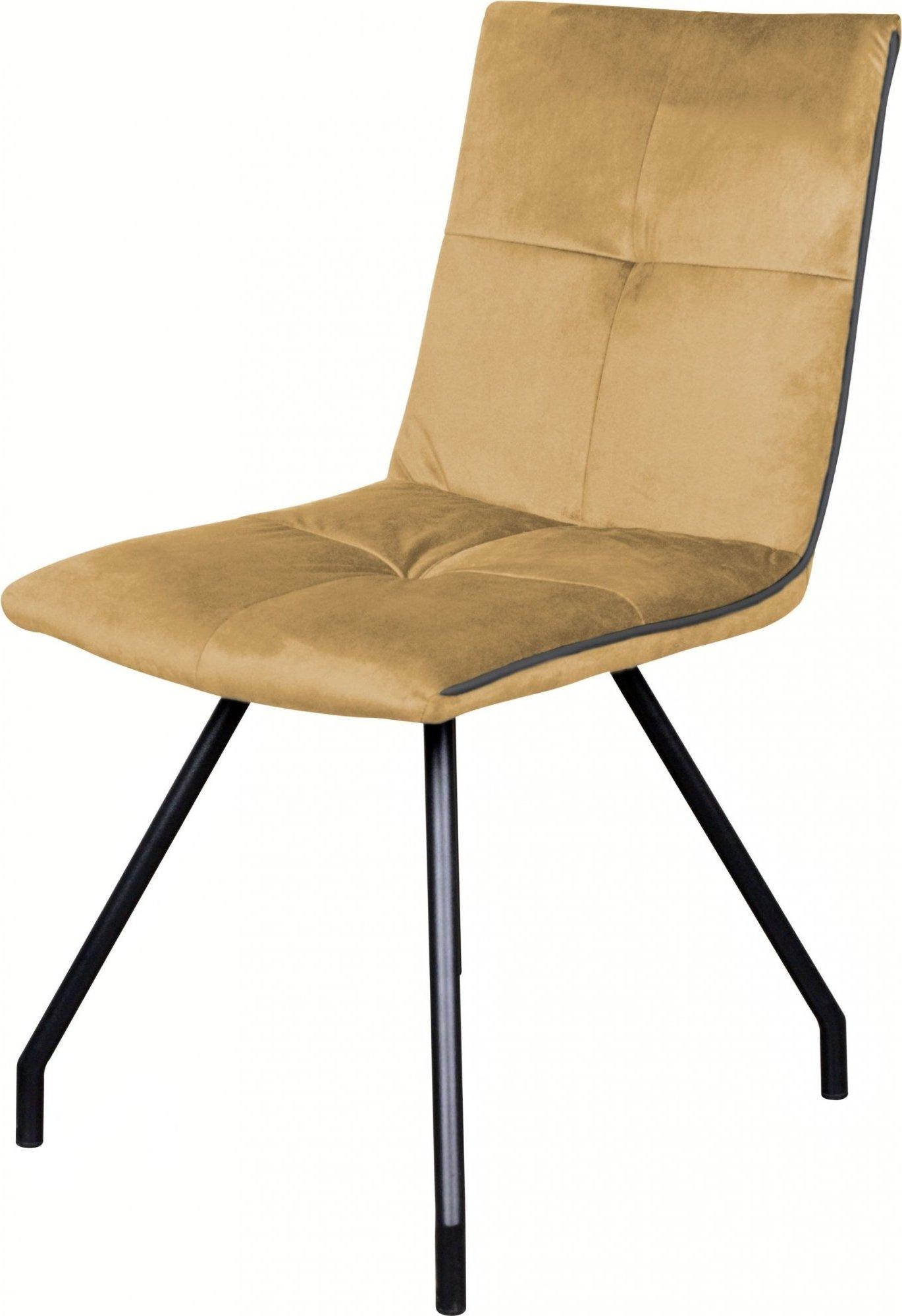 maison du monde Chaise design velours rembourrée couleur beige (lot de 2)