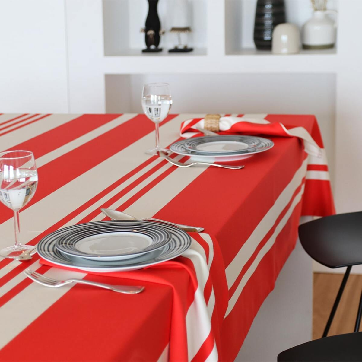 Nappe rouge 180x350