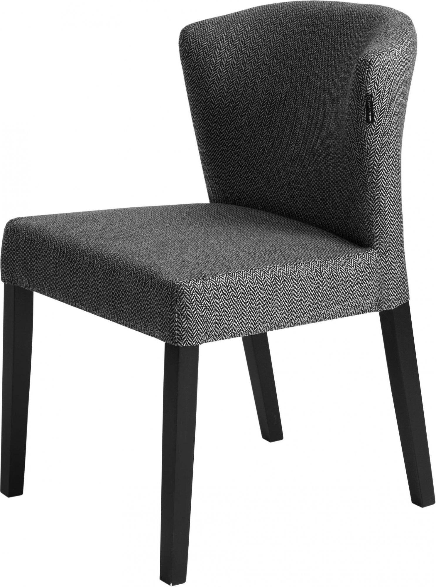 maison du monde Chaise cosy rembourrée couleur gris pieds bois noir