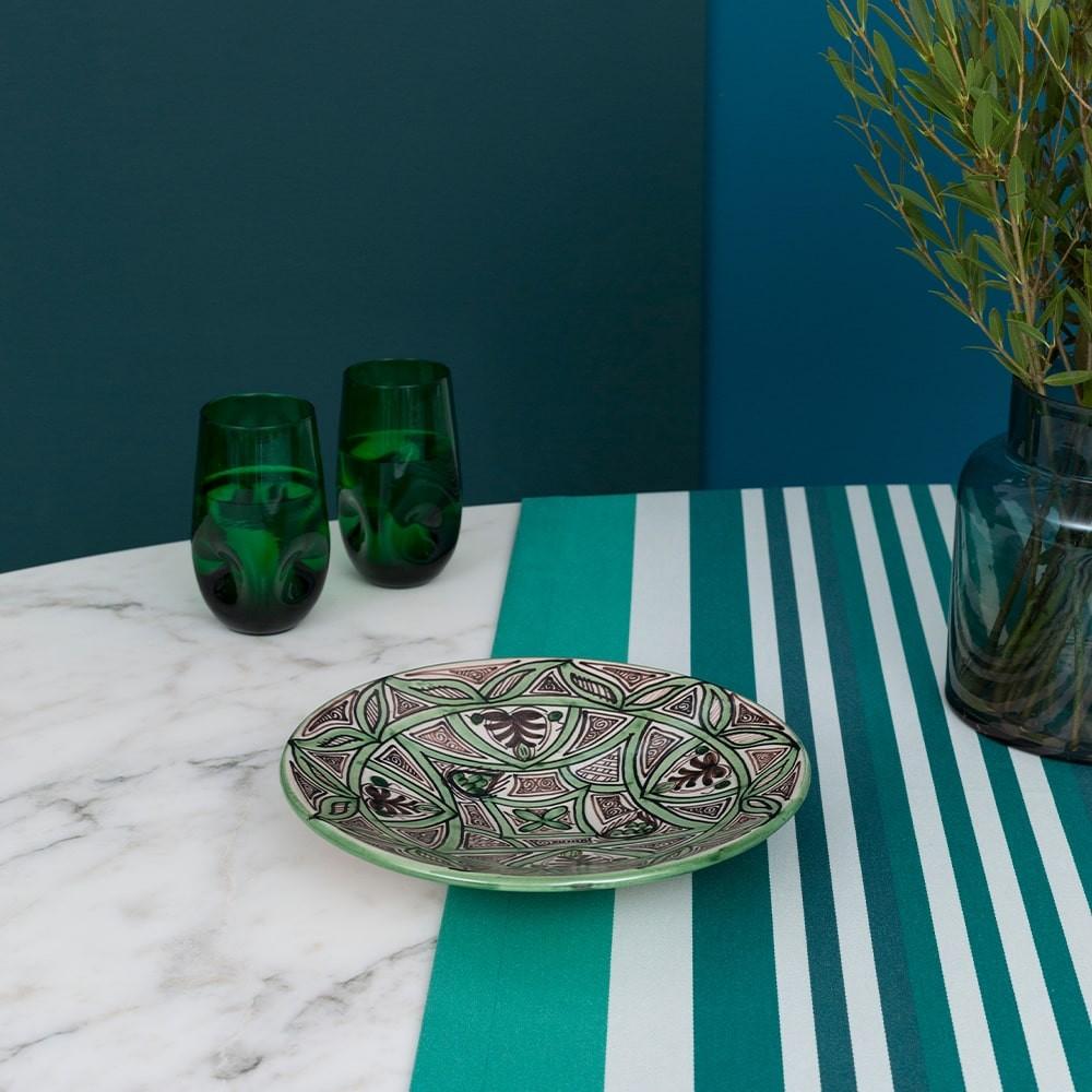 Chemin de table vert 50x155