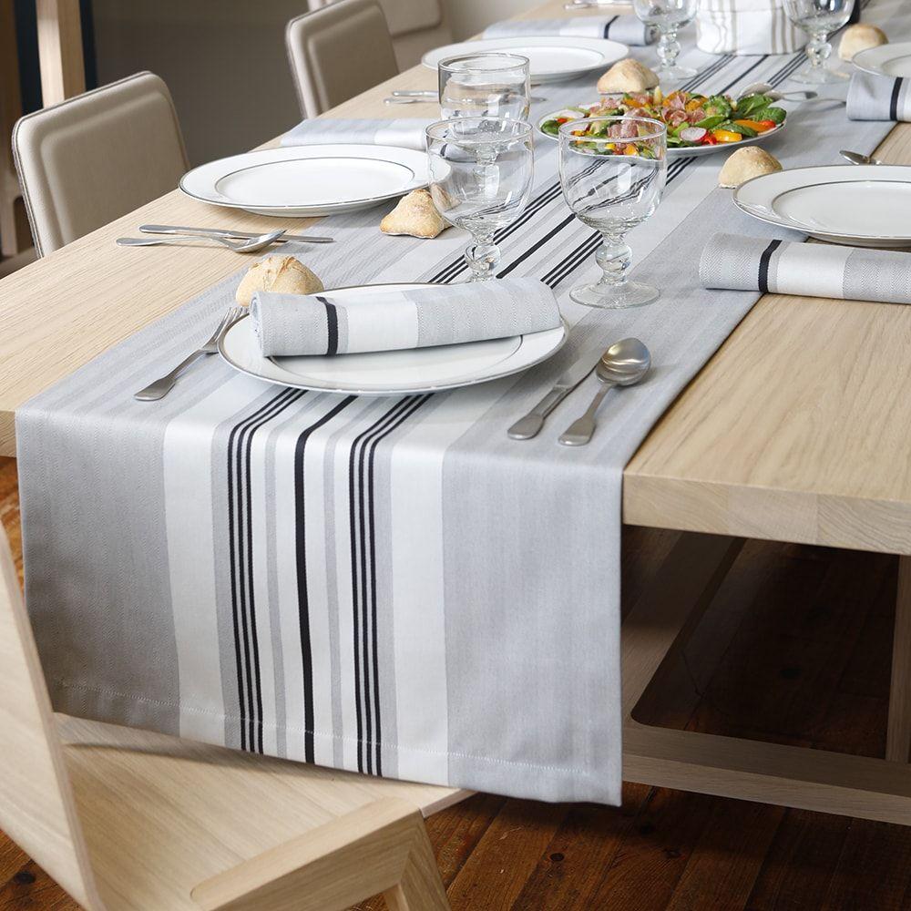 Chemin de table gris 50x155