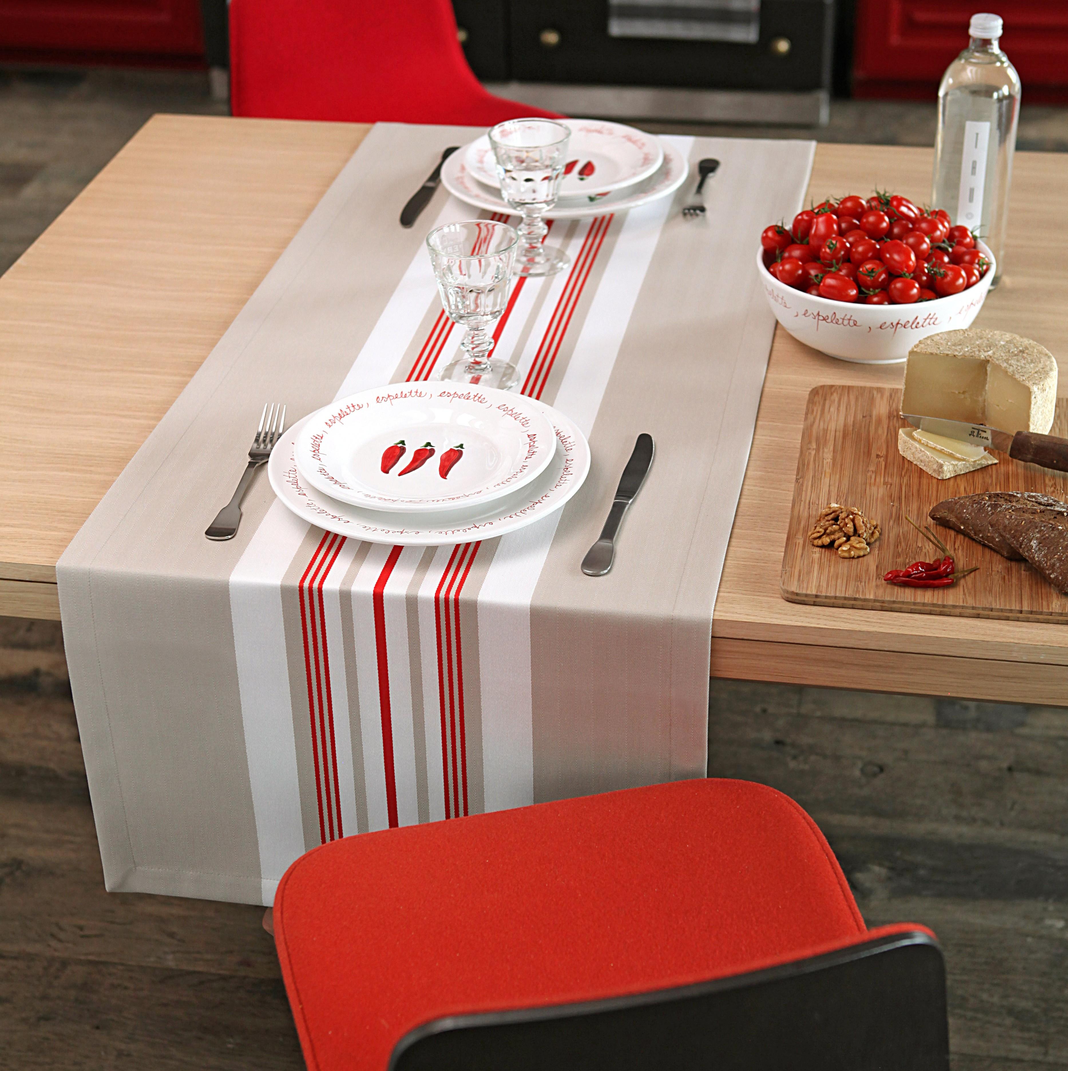 Chemin de table rouge 50x155