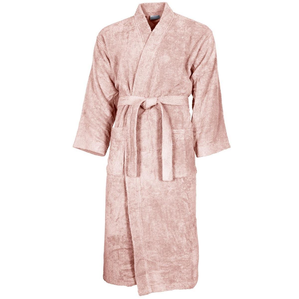 Peignoir col kimono Poudre L