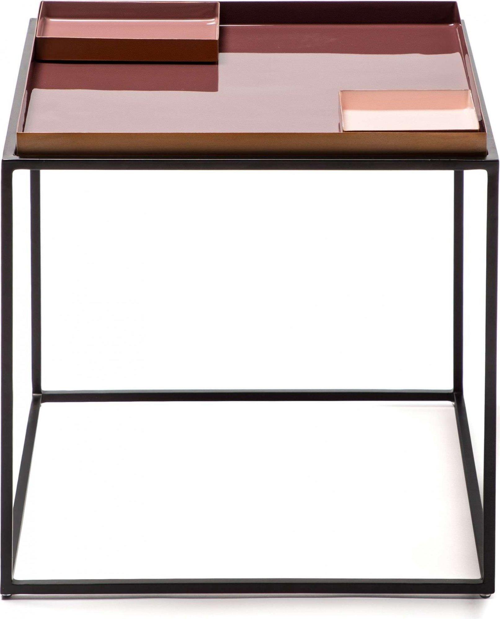 Table d'appoint carré couleur violet l40cm