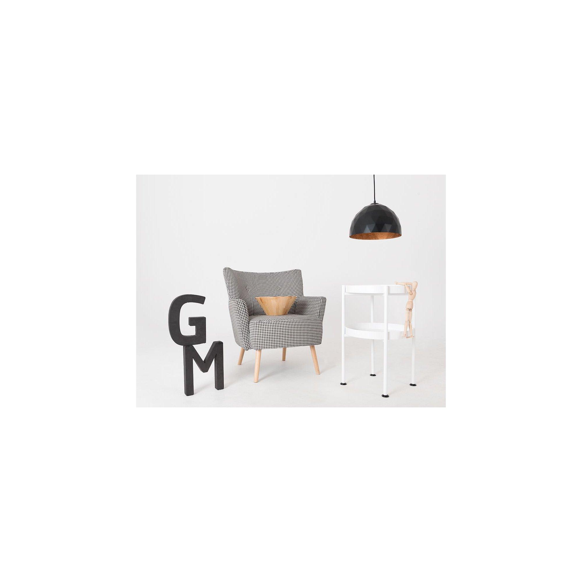 Table d'appoint ronde 2 plateaux blanc d40cm