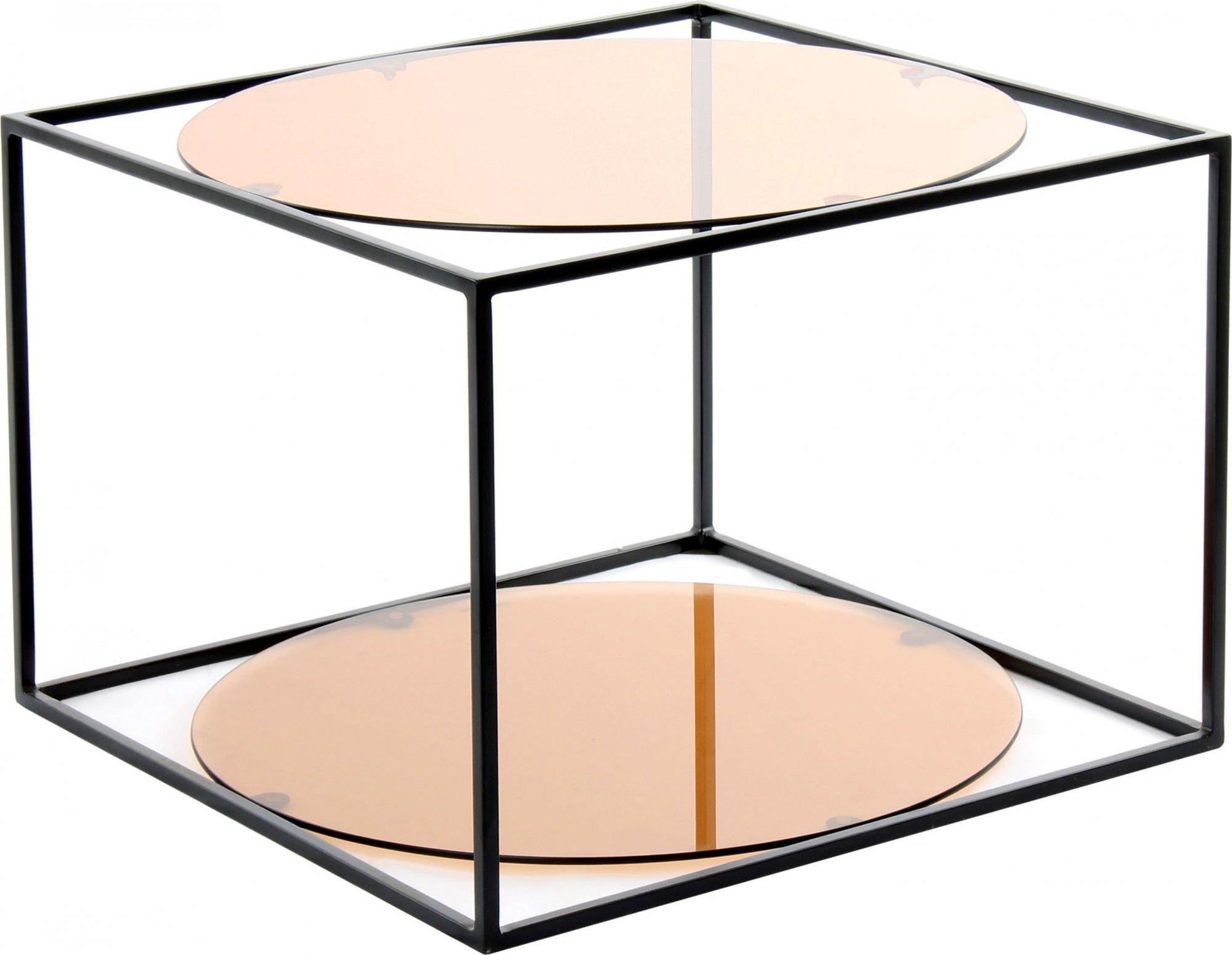 Table basse rectangulaire plateau verre fumé l50cm
