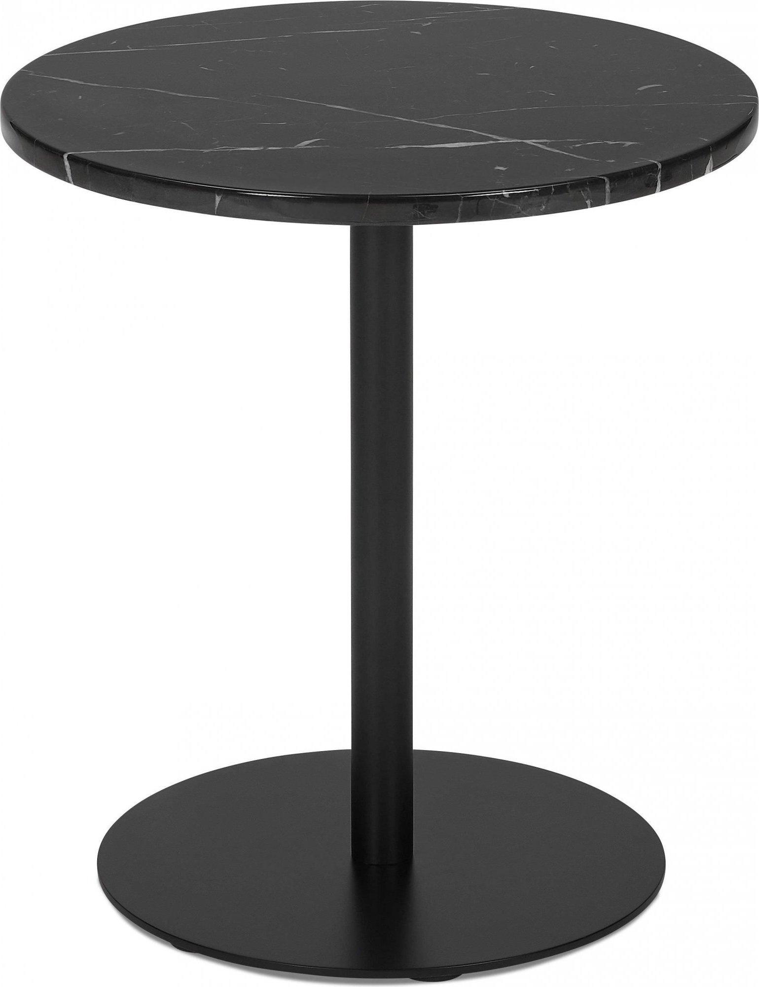 Table basse design ronde couleur noir d45cm