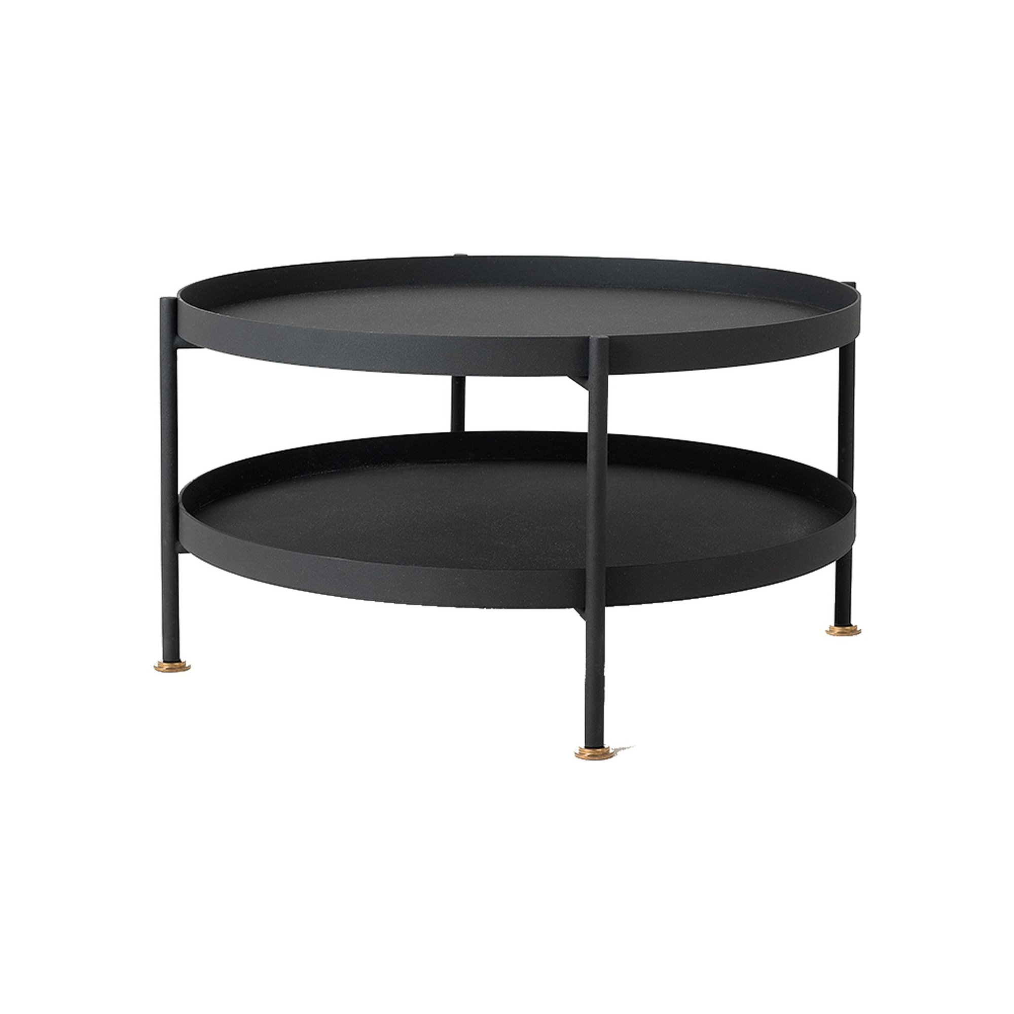 maison du monde Table basse design en métal noir d80cm