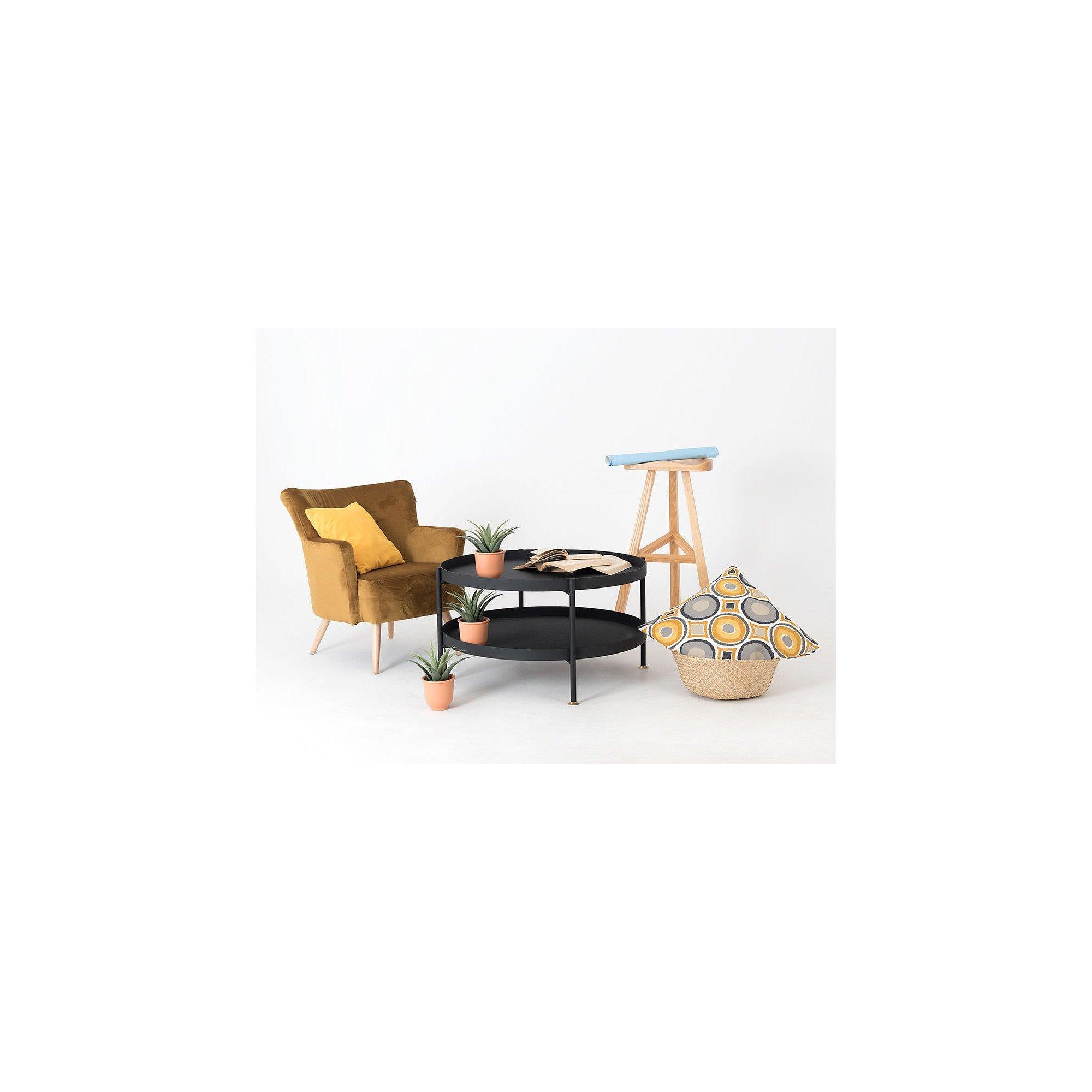 Table basse design en métal noir d80cm