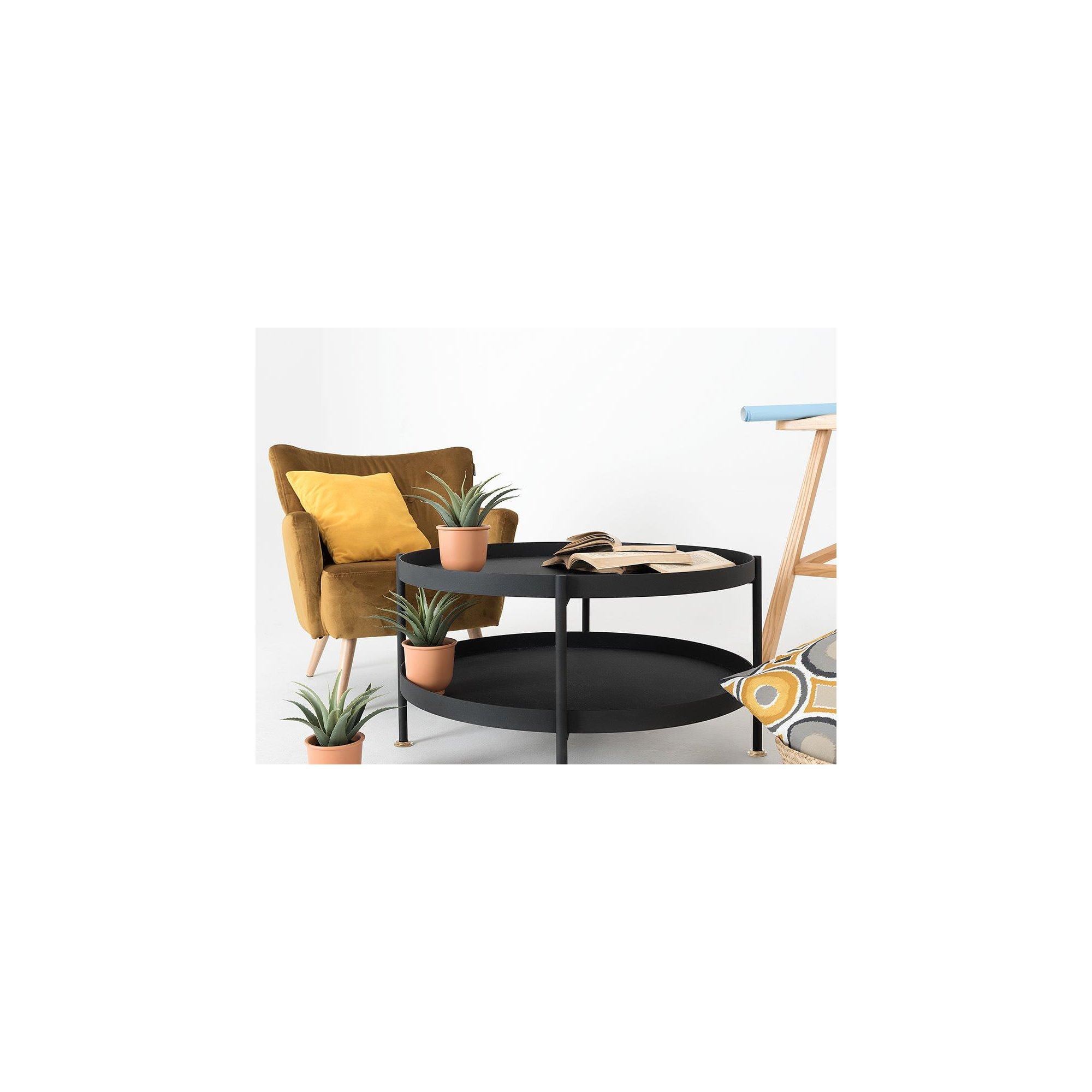 Table basse design en métal noir d60cm