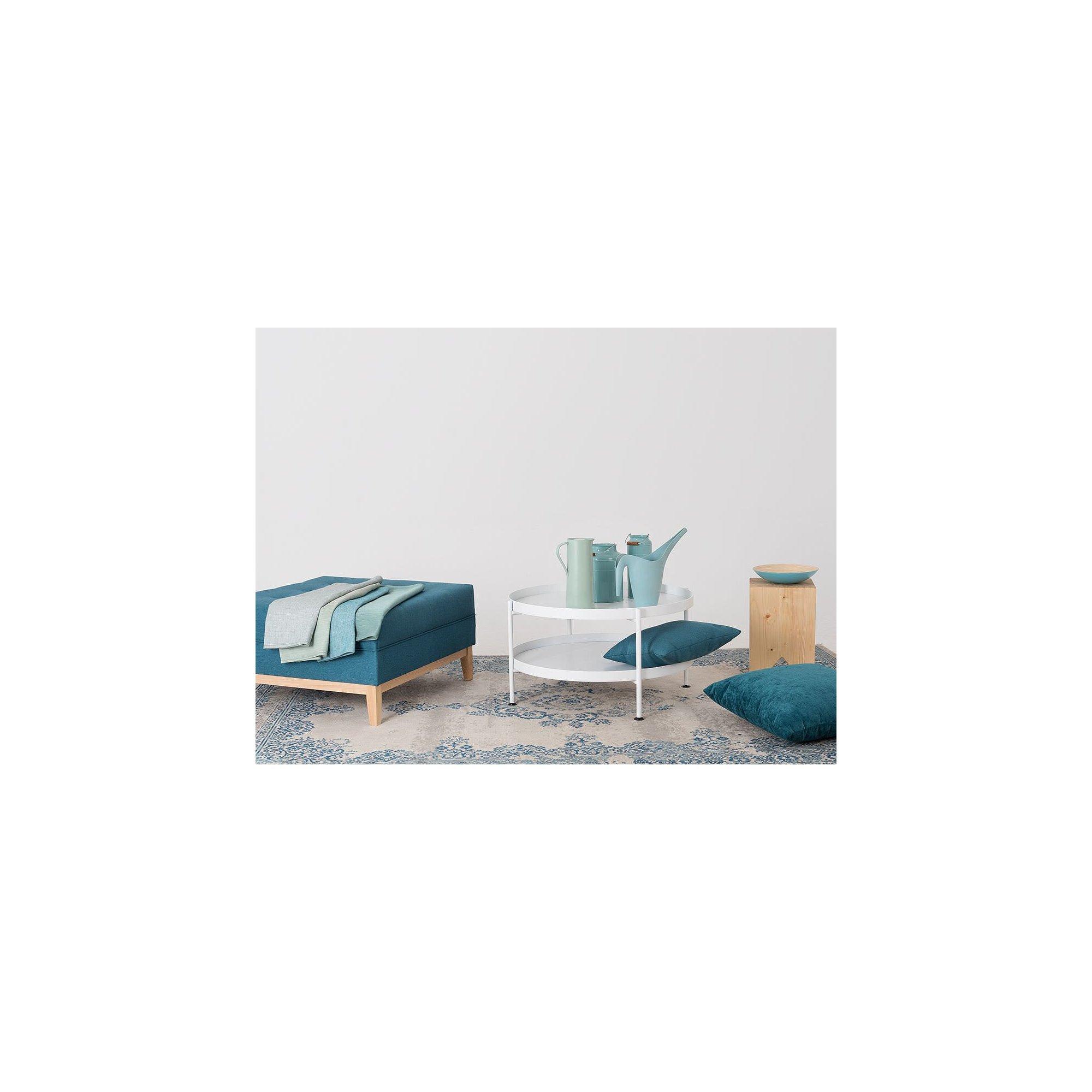 Table basse design en métal blanc d80cm