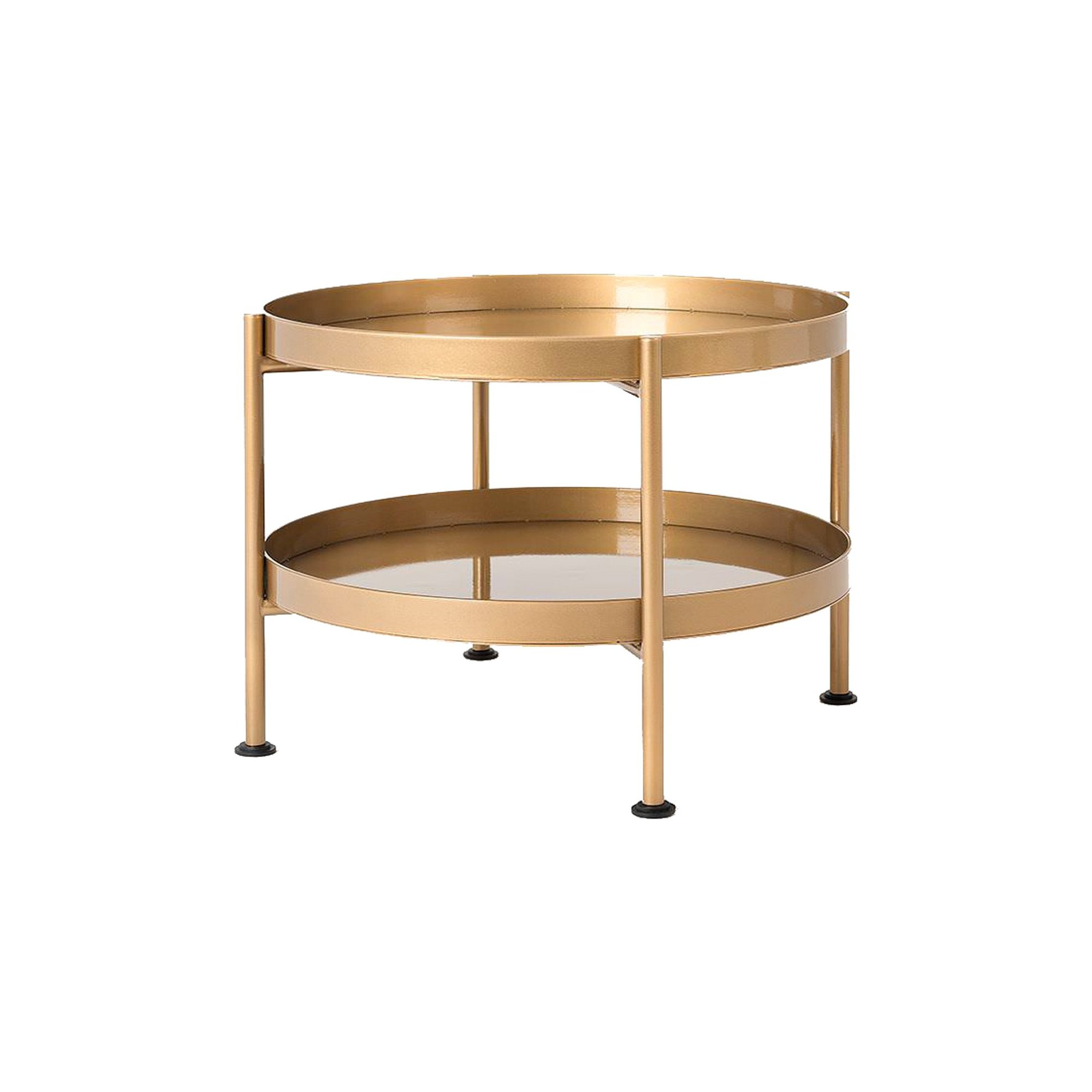Table basse design en métal doré d60cm