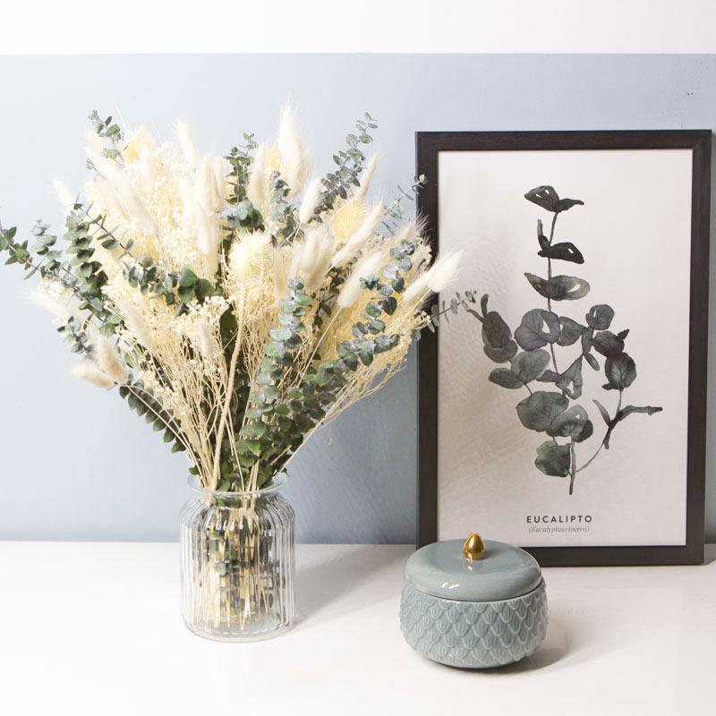 Bouquet de fleurs séchées ivoire