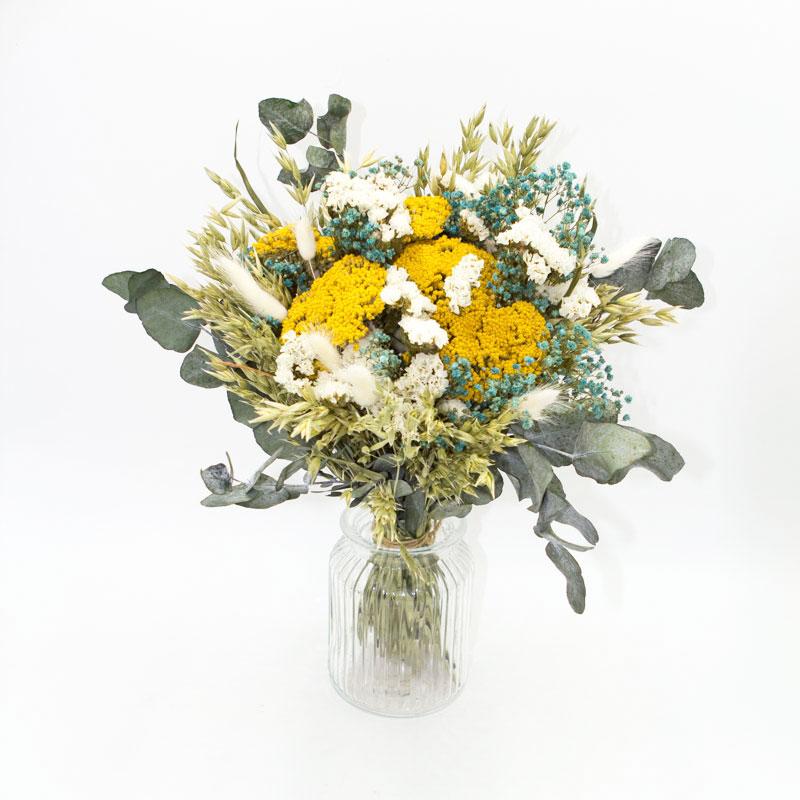 Bouquet de fleurs séchées à base d'Achillea parker