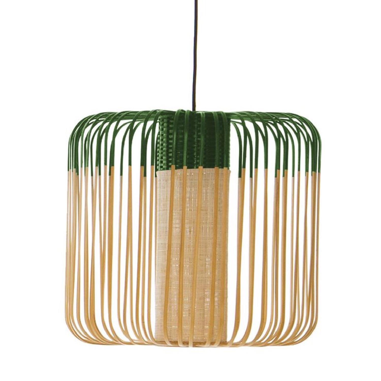 Suspension bambou vert D45cm H40cm