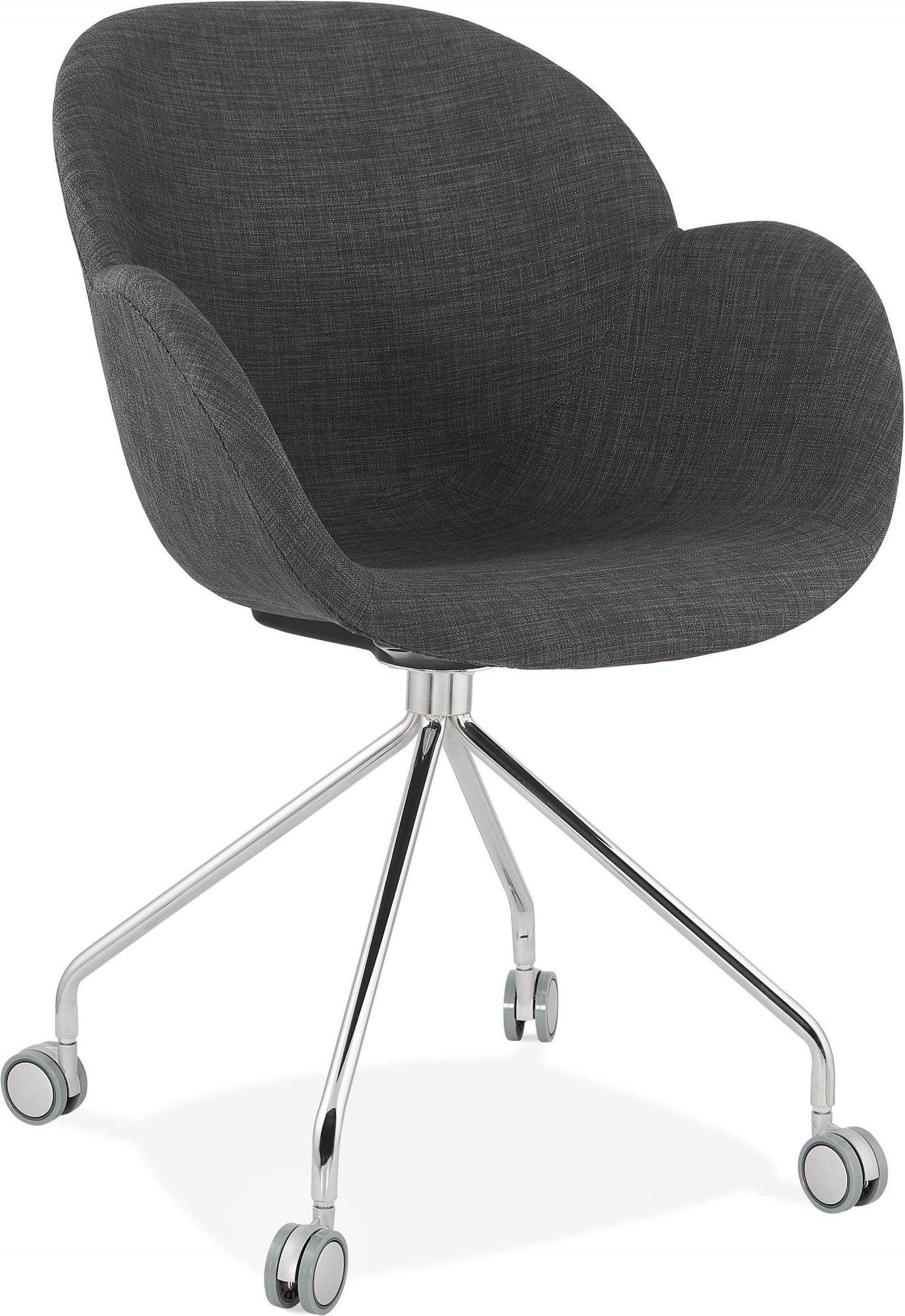 Fauteuil de bureau enveloppant rembourré couleur gris foncé