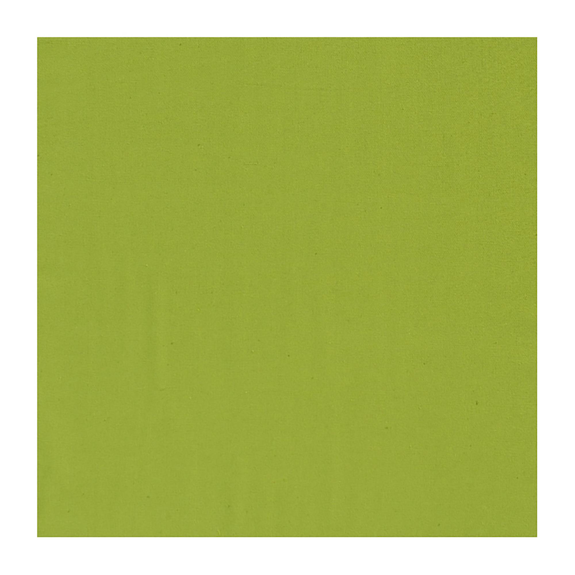 Serviette de Table Unie en coton vert kiwi 50 x 50