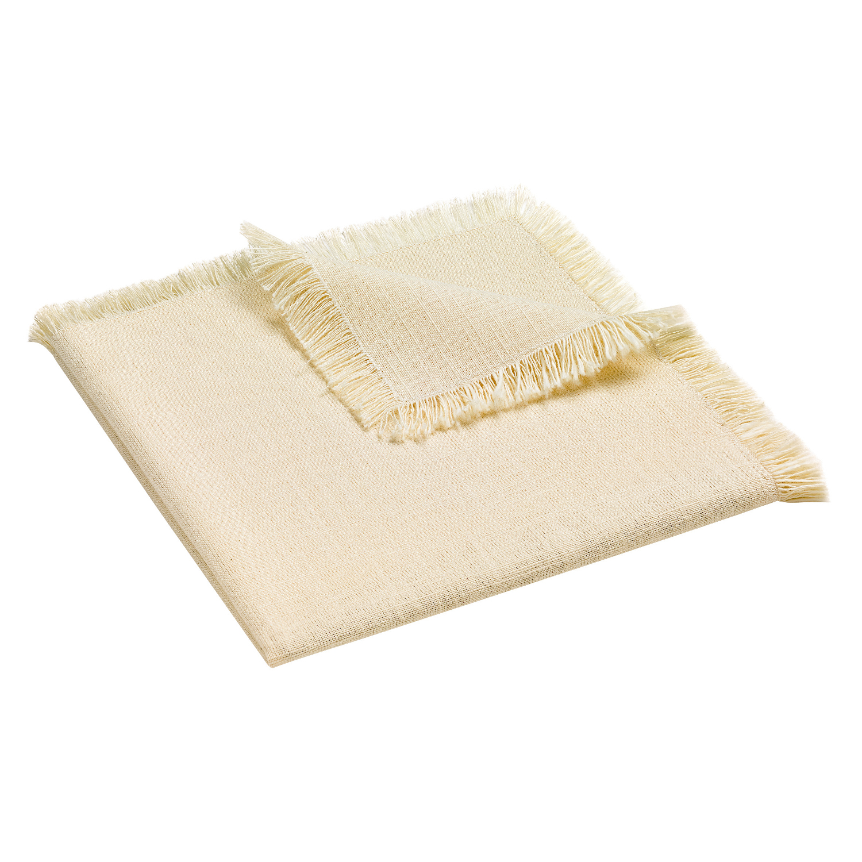 Serviette de Table en coton ivoire 45 x 45