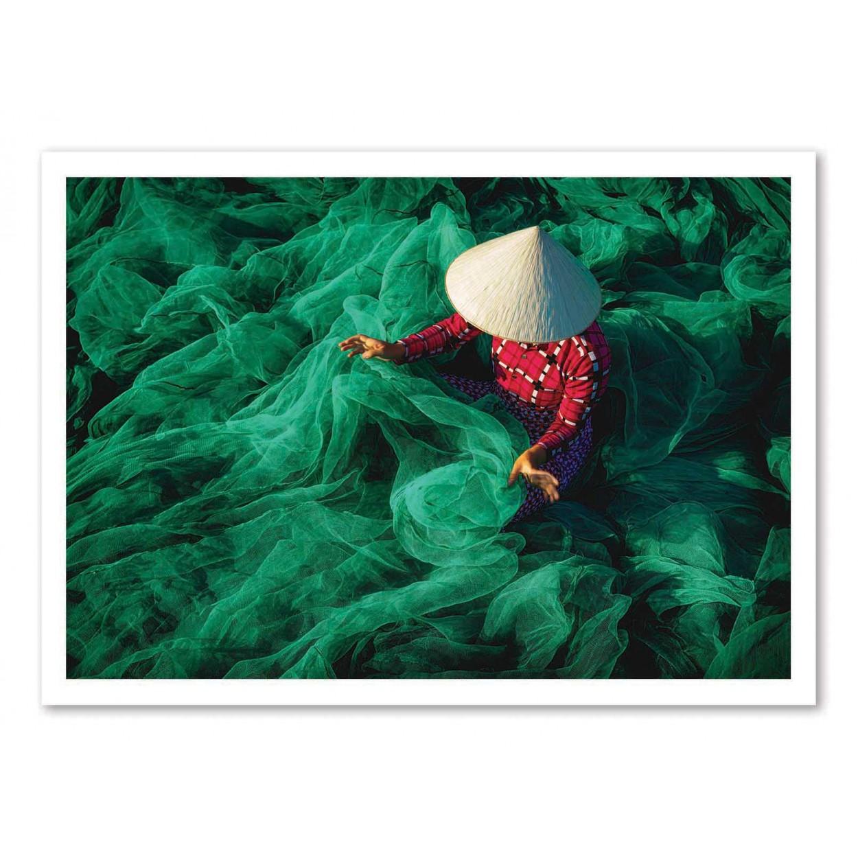 THE FISHING NET - Affiche d'art 50 x 70 cm - Patrick Foto