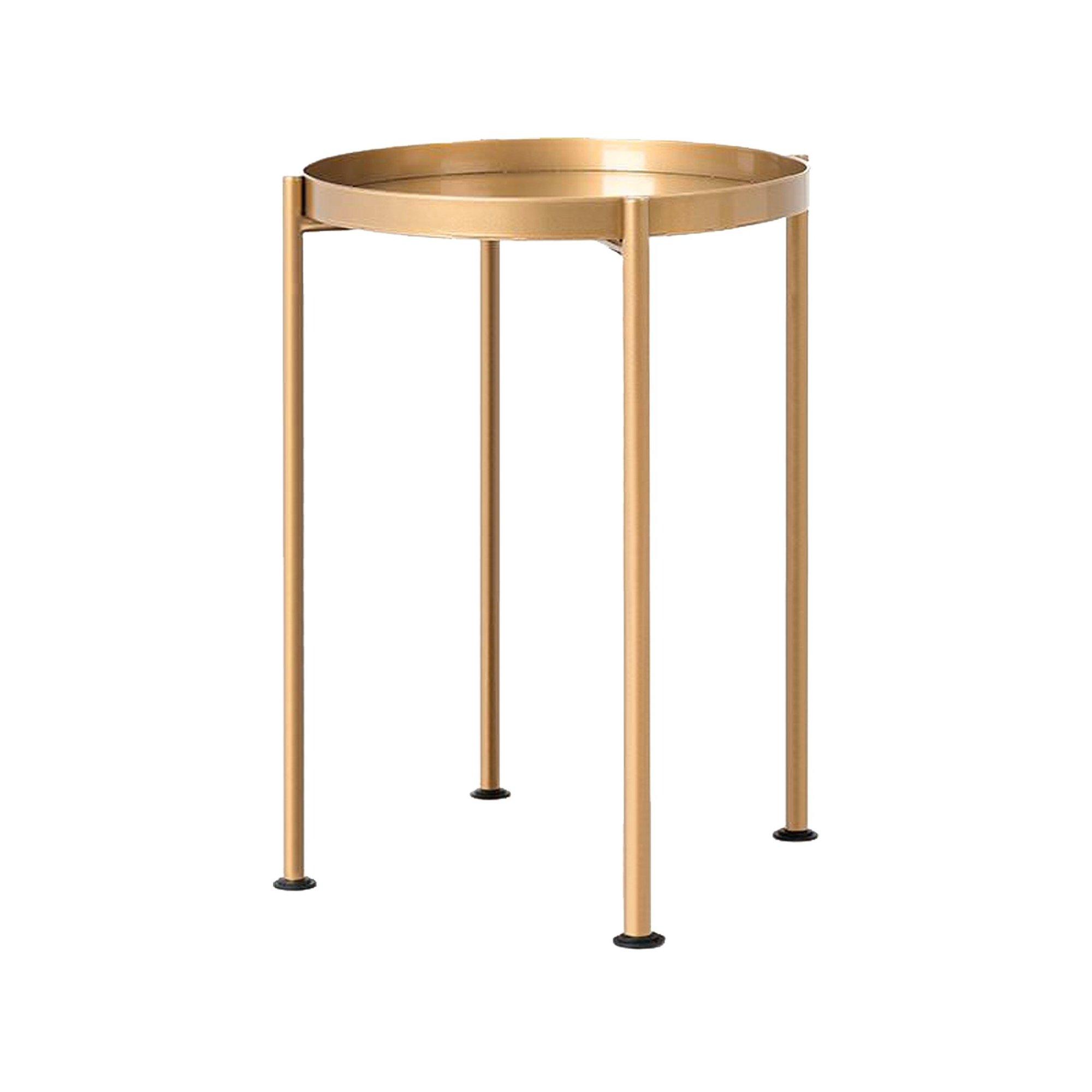 maison du monde Table d'appoint ronde doré d40cm