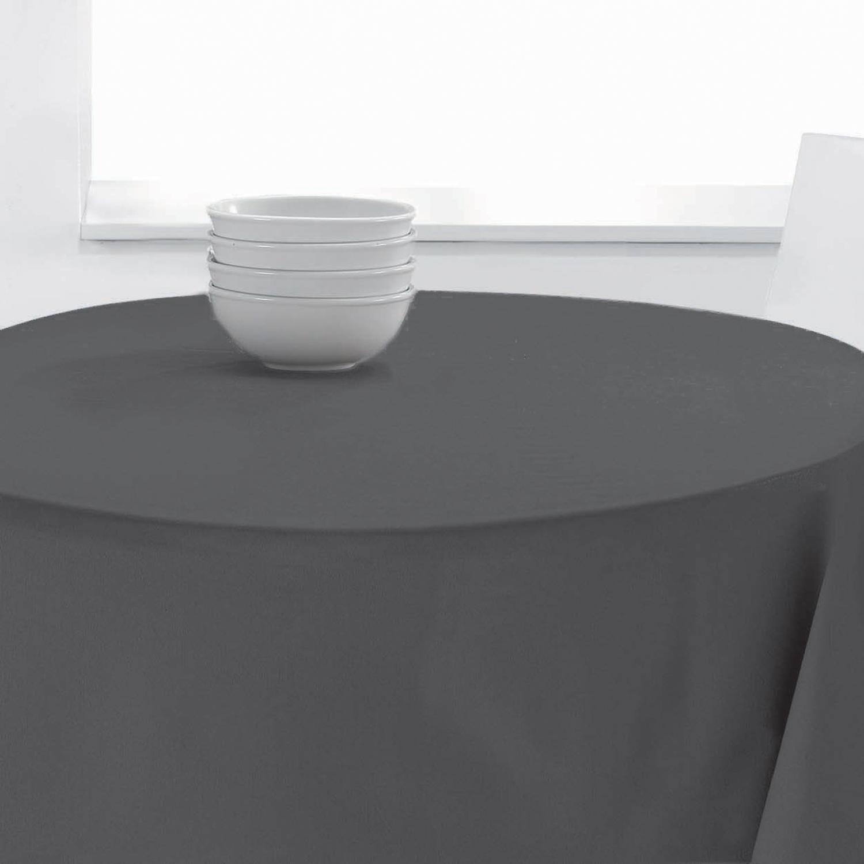 Nappe ronde Unie PES en polyester asphalte diamètre 140